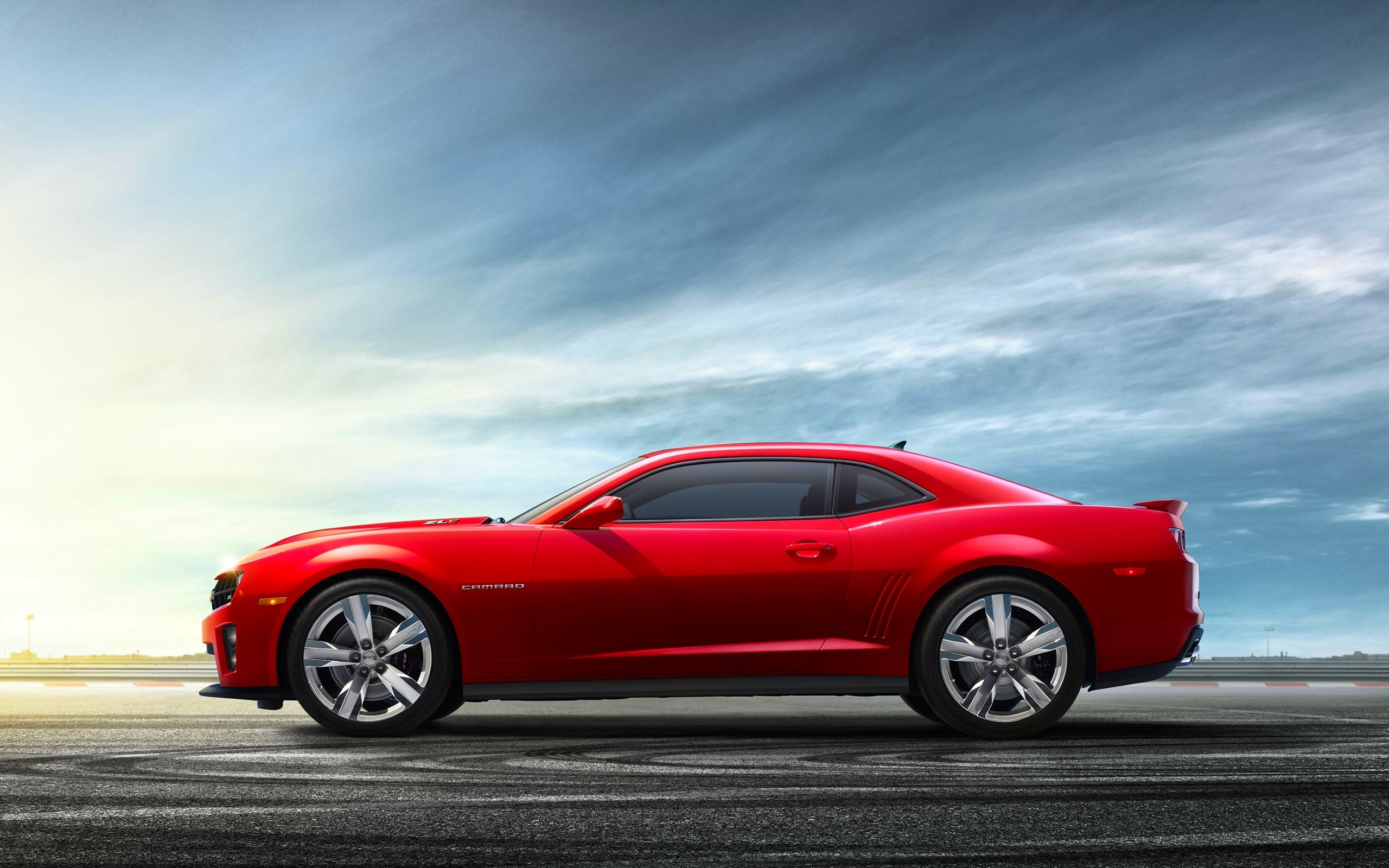 Wallpaper Chevrolet Camaro Red Car Side View 2560x1600 Hd Picture Image