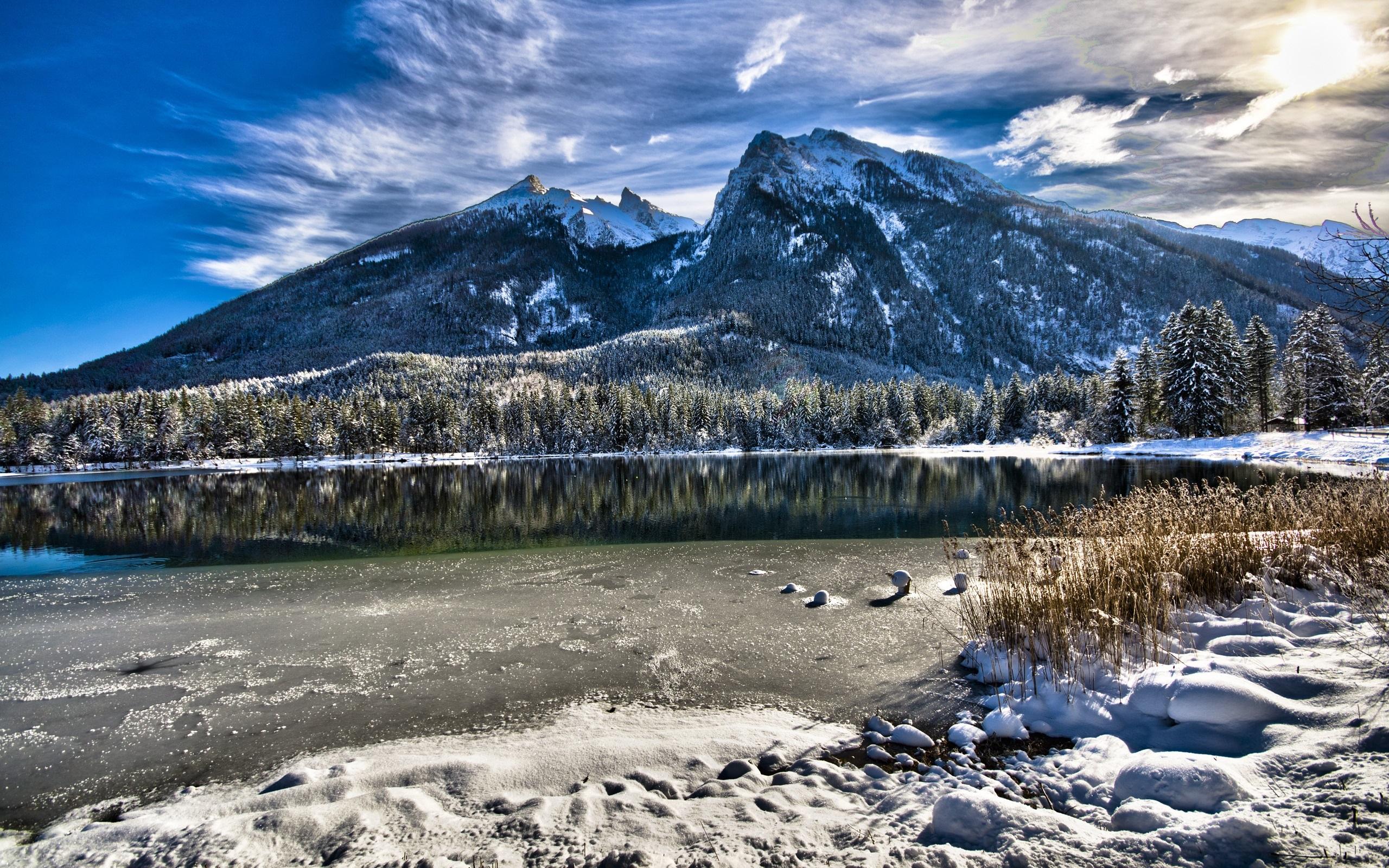 Montaña Nevada Hd: Fondos De Pantalla Baviera, Alemania, Lago, árboles