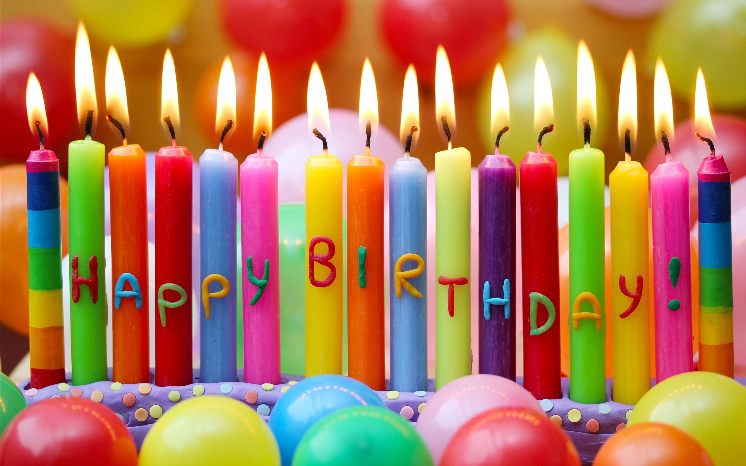 Wallpaper happy birthday colorful candles balloons - Zedge happy birthday wallpapers ...