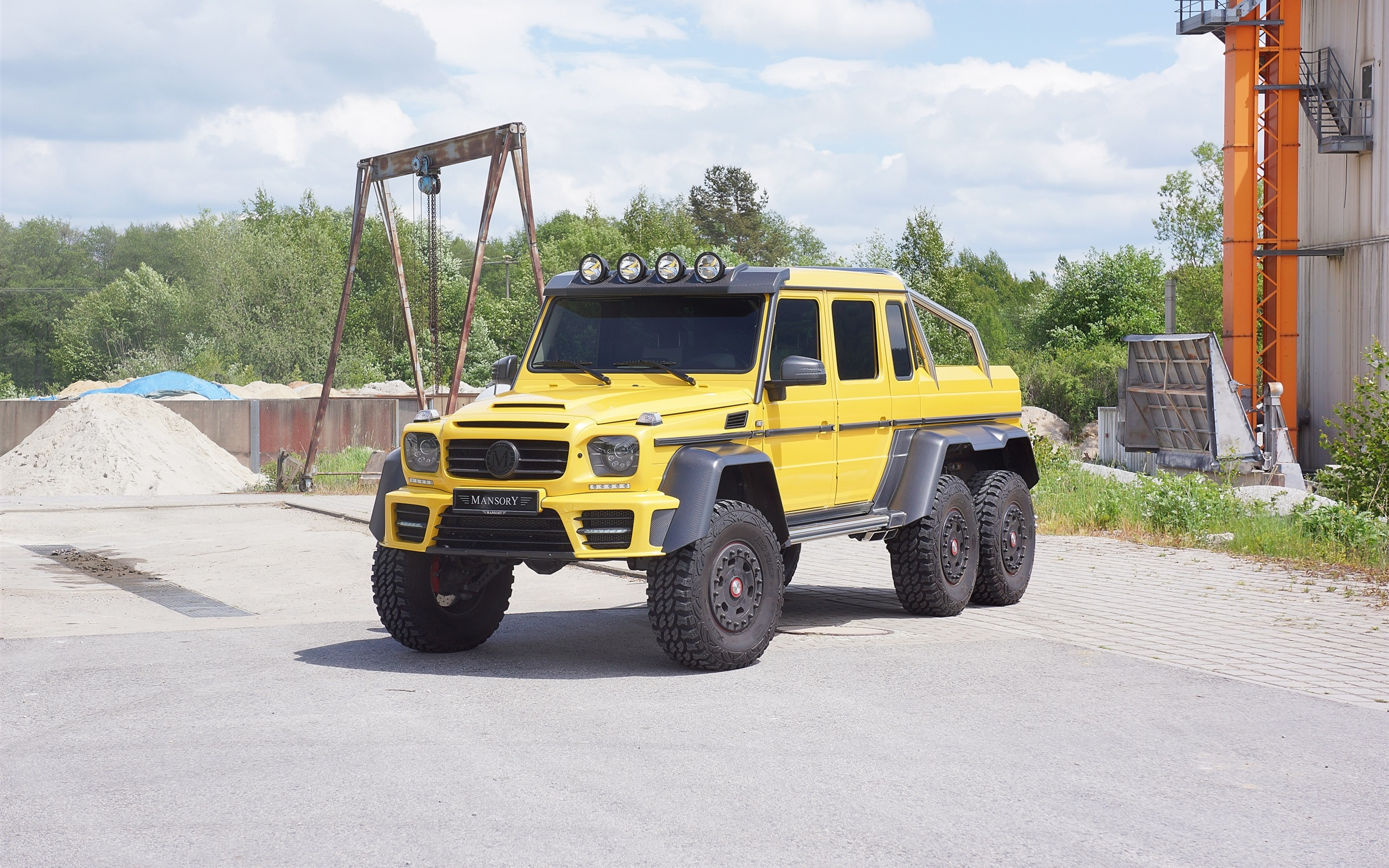 Wallpaper 2015 Mercedes Benz G63 Amg 6x6 Yellow Car 2560x1600 Hd Picture Image