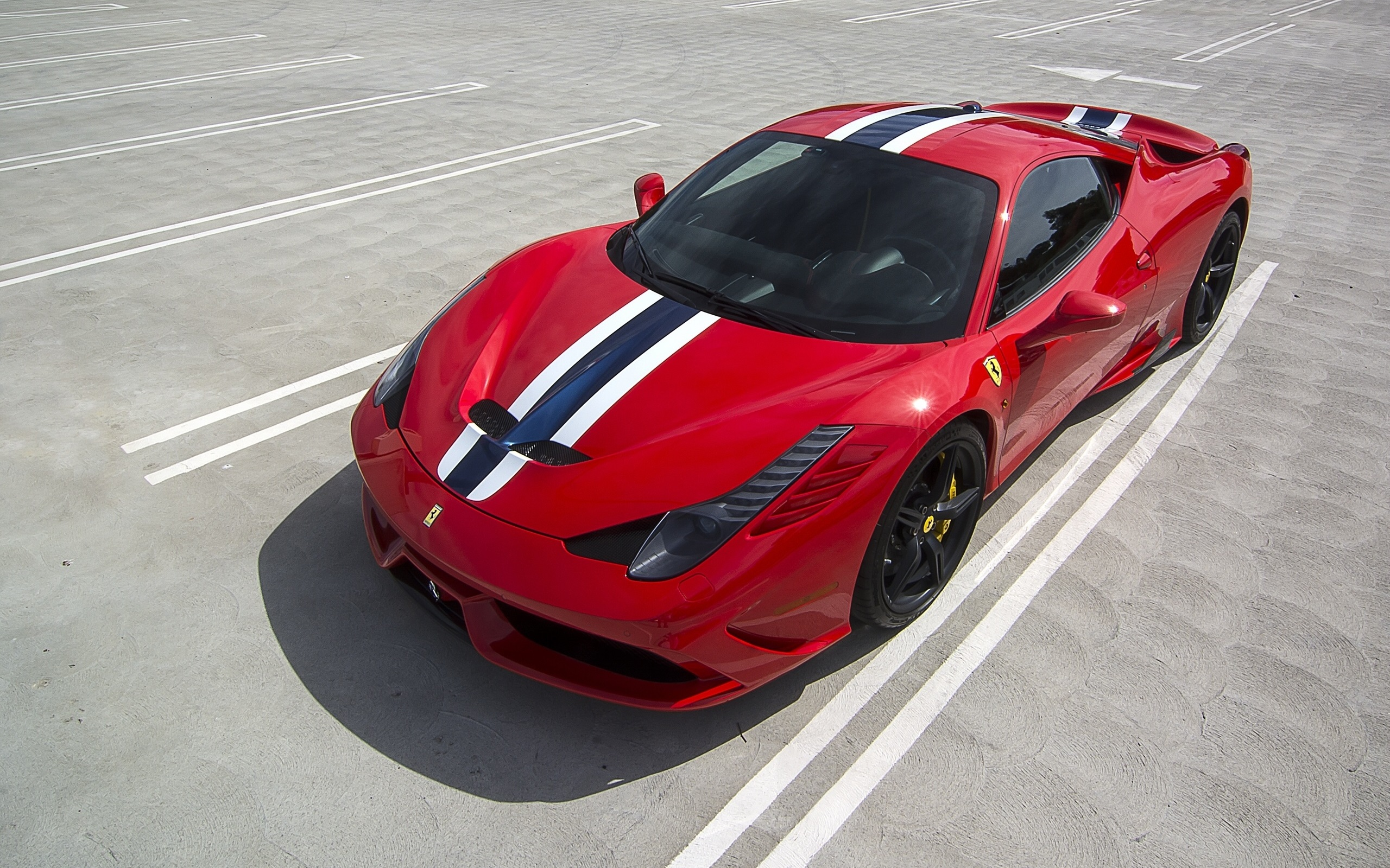 Wallpaper Ferrari 458 Speciale Red Sportscar Top View 2560x1600 Hd Picture Image