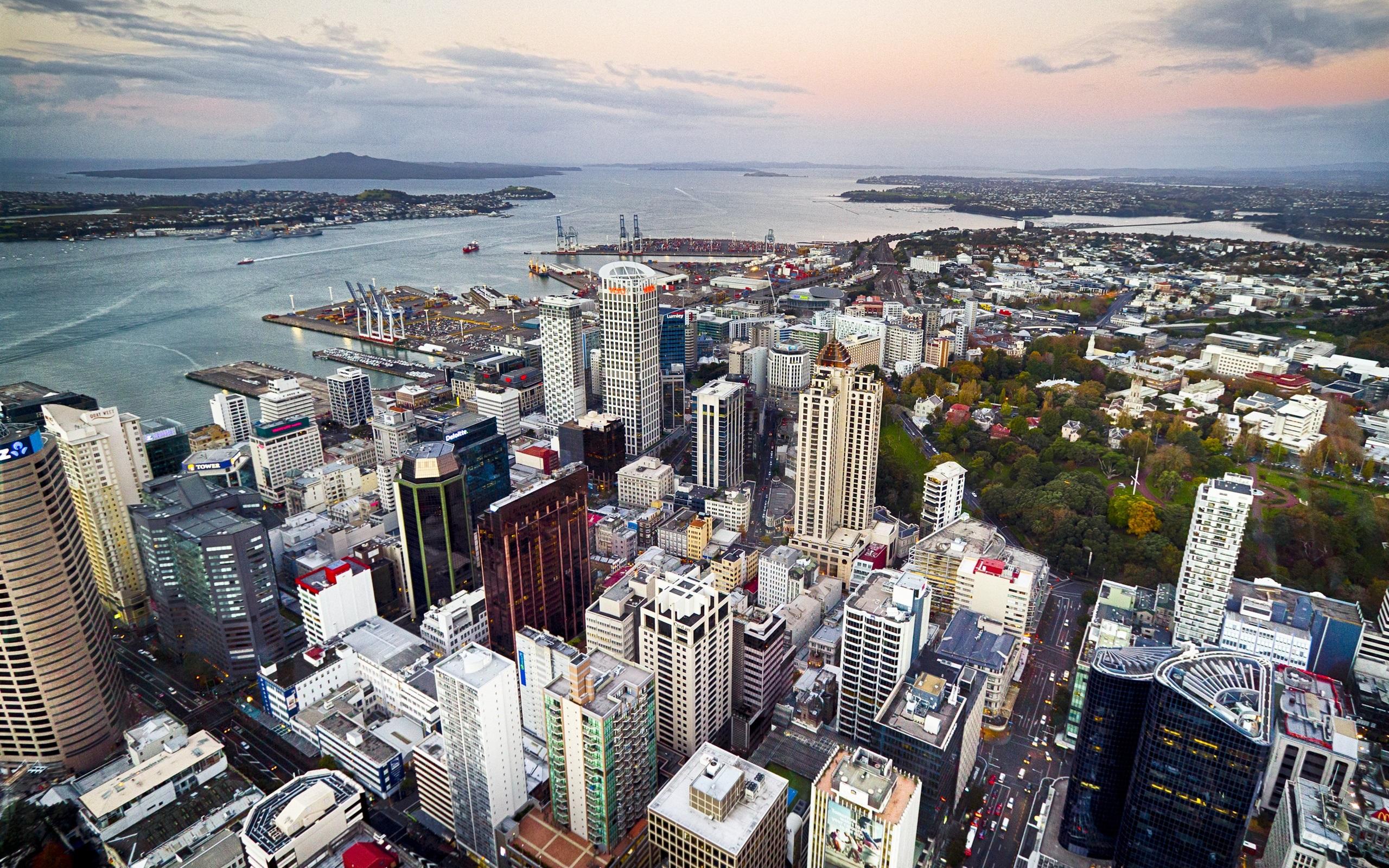 Wallpaper Auckland, New Zealand, city, street, buildings ...