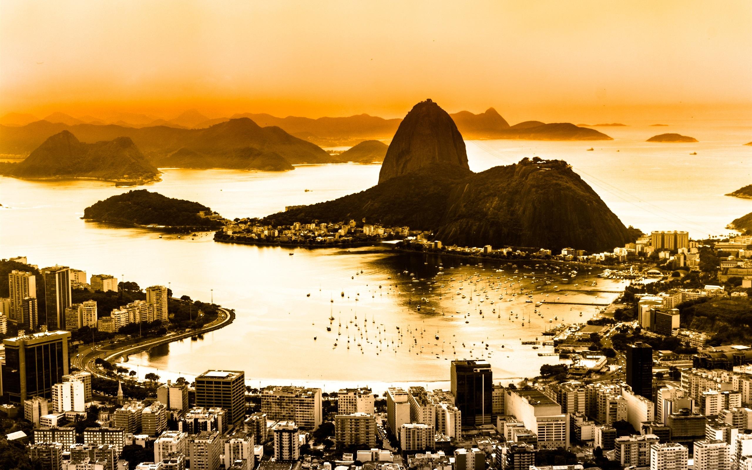 Papeis De Parede Brasil Rio De Janeiro Cidade Vista De Cima