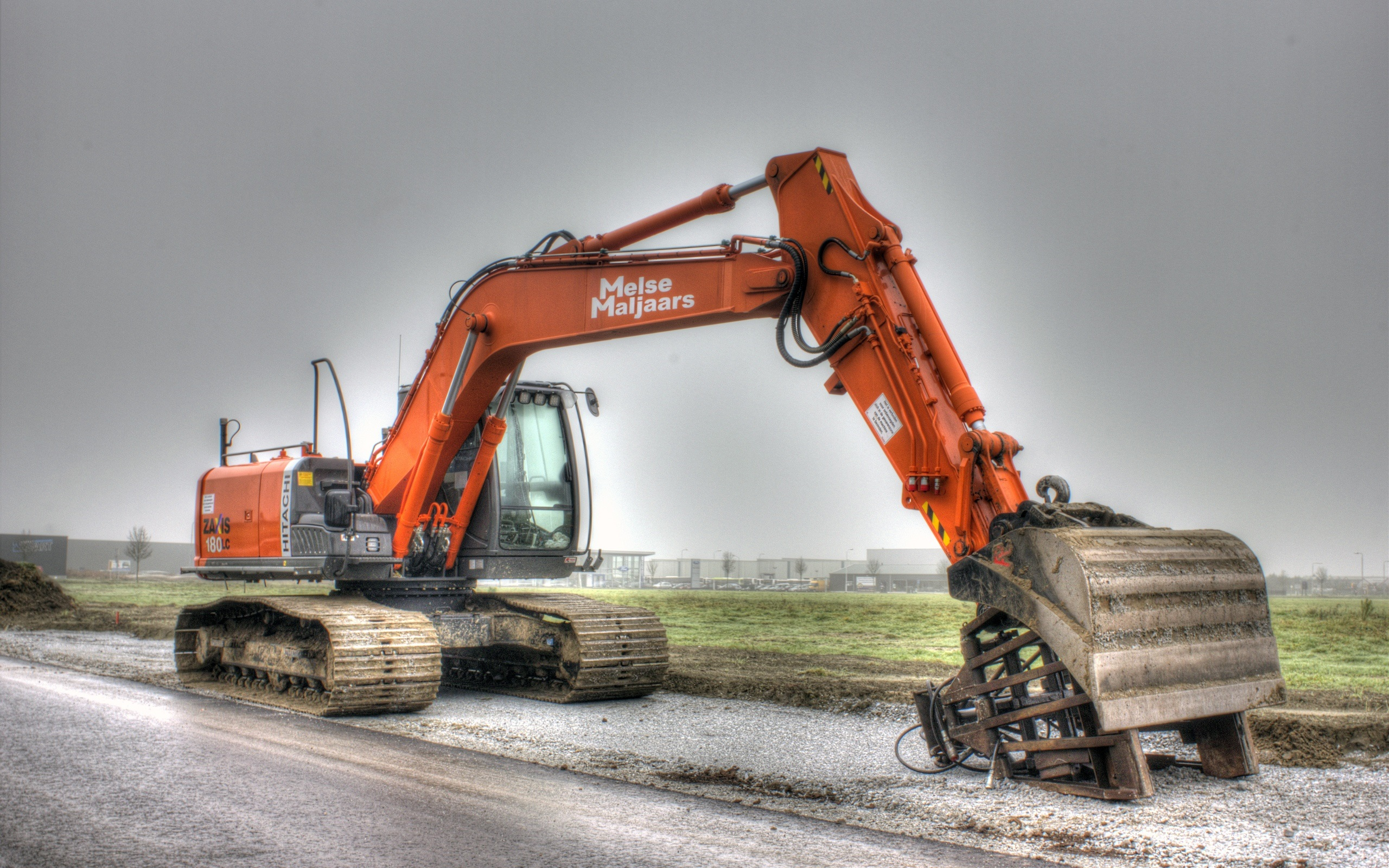 Used Cars Phoenix >> Download Wallpaper 2560x1600 Hitachi excavator, construction machinery HD Background