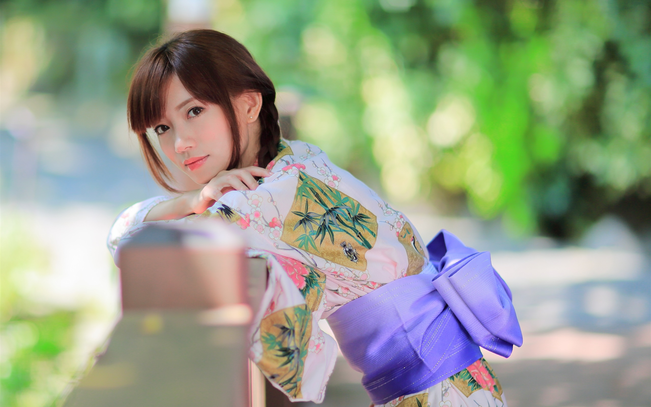 beautiful japanese girl, kimono, summer 750x1334 iphone 8/7/6/6s