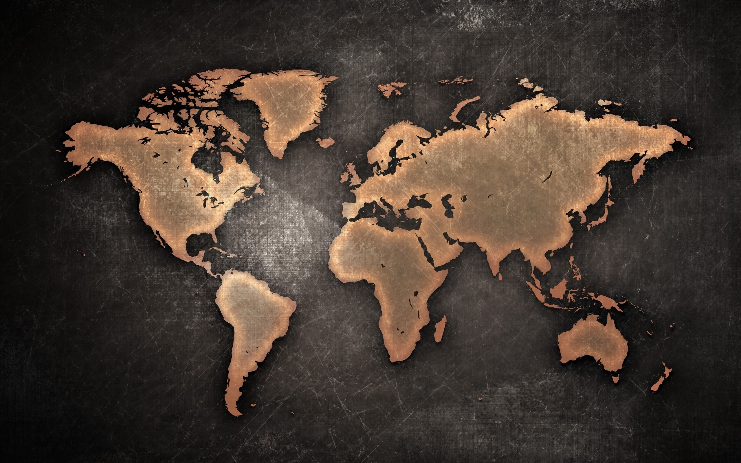 Wallpaper world map continents creative design 2560x1600 hd download this wallpaper gumiabroncs Image collections