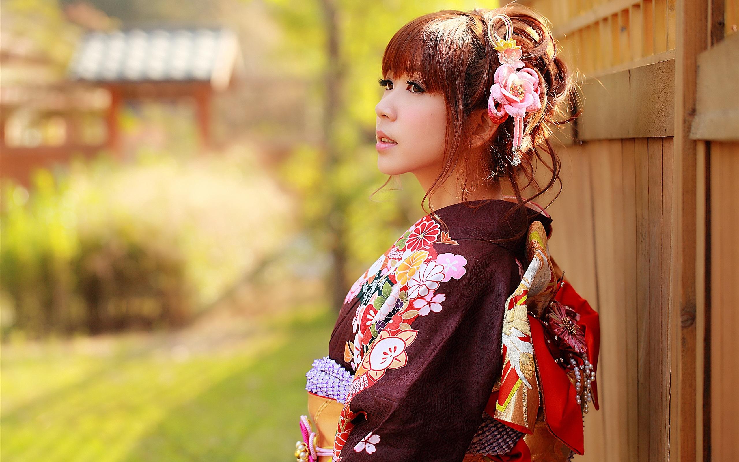 Wallpaper Japanese Girl Asian Kimono Clothes 2560x1600 Hd Picture
