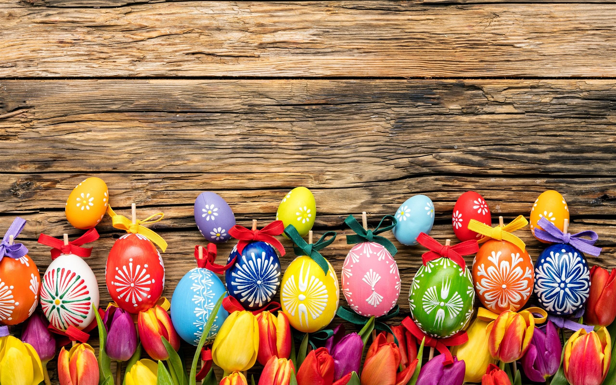 Fondos De Pantalla Fondo De Tablero De Madera De Colores: Fondos De Pantalla Feliz Pascua, Huevos De Colores