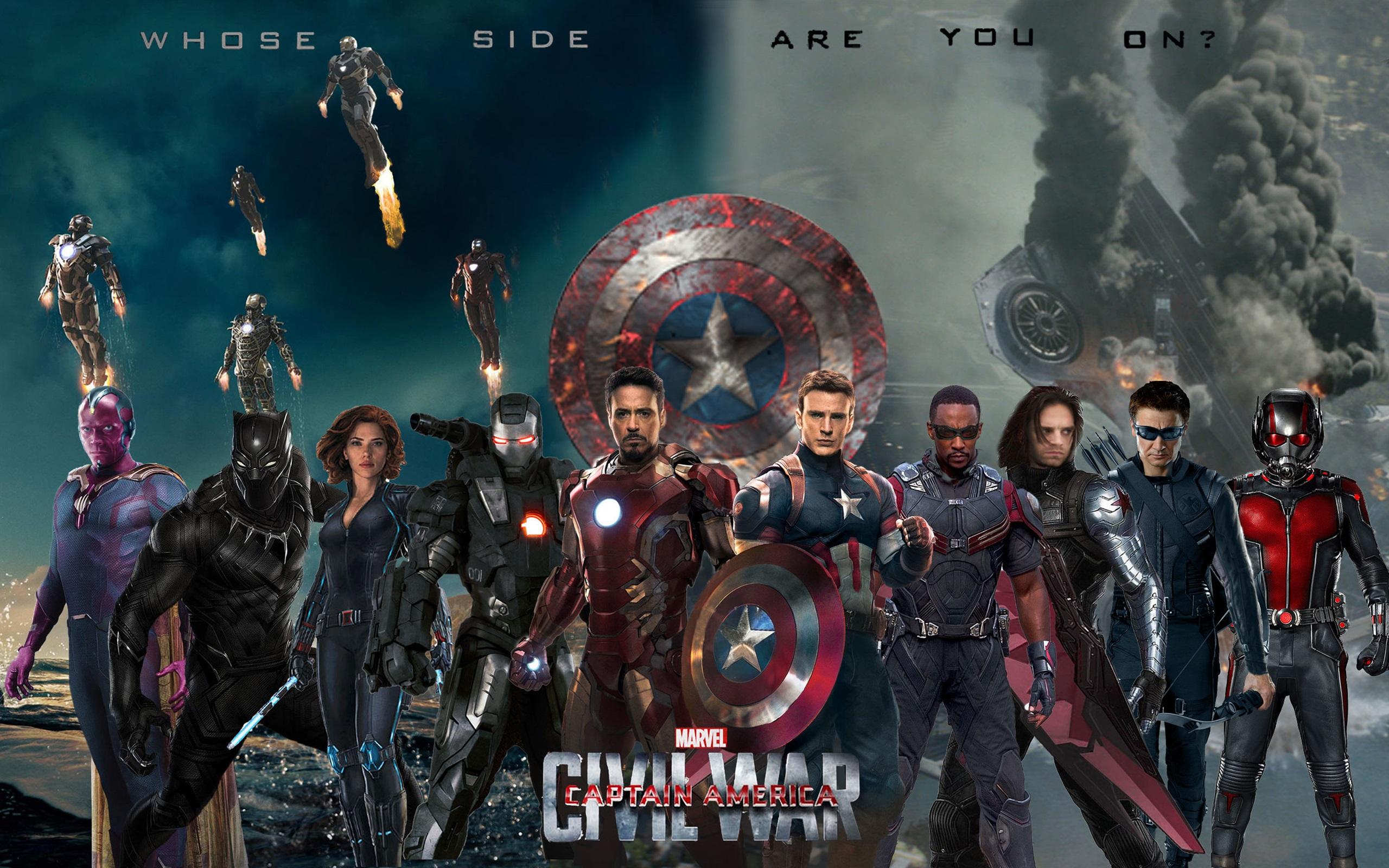 Wallpaper Marvel Movie 2016 Captain America Civil War 2560x1600