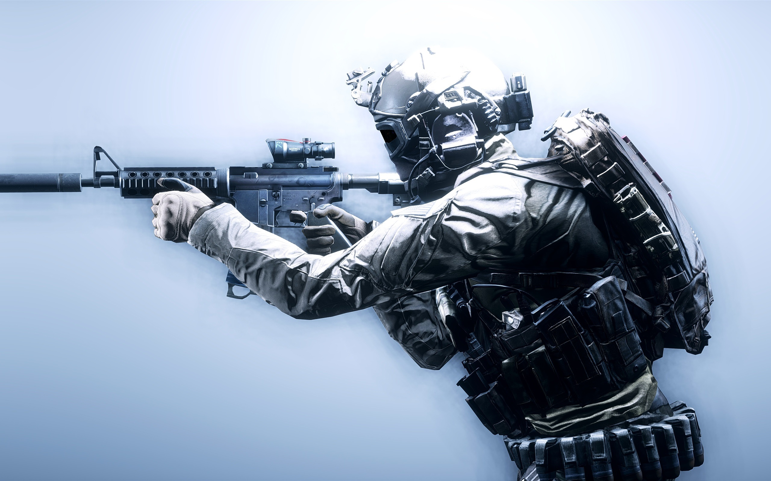 Wallpaper Battlefield 4 Soldiers Weapons 2560x1600 HD Picture Image