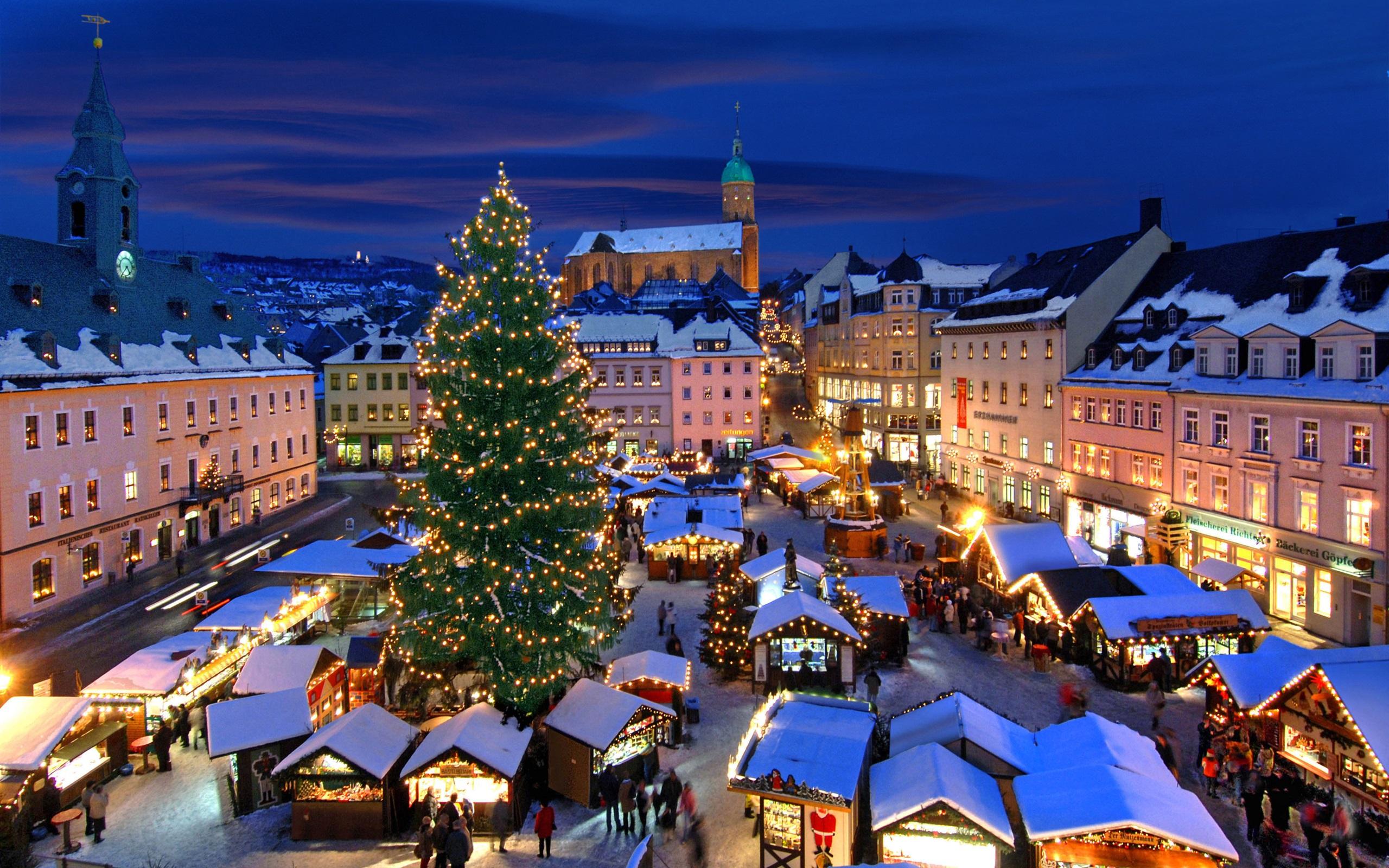 壁紙 クリスマスマーケット アンベルク ブッフホルツ ドイツ