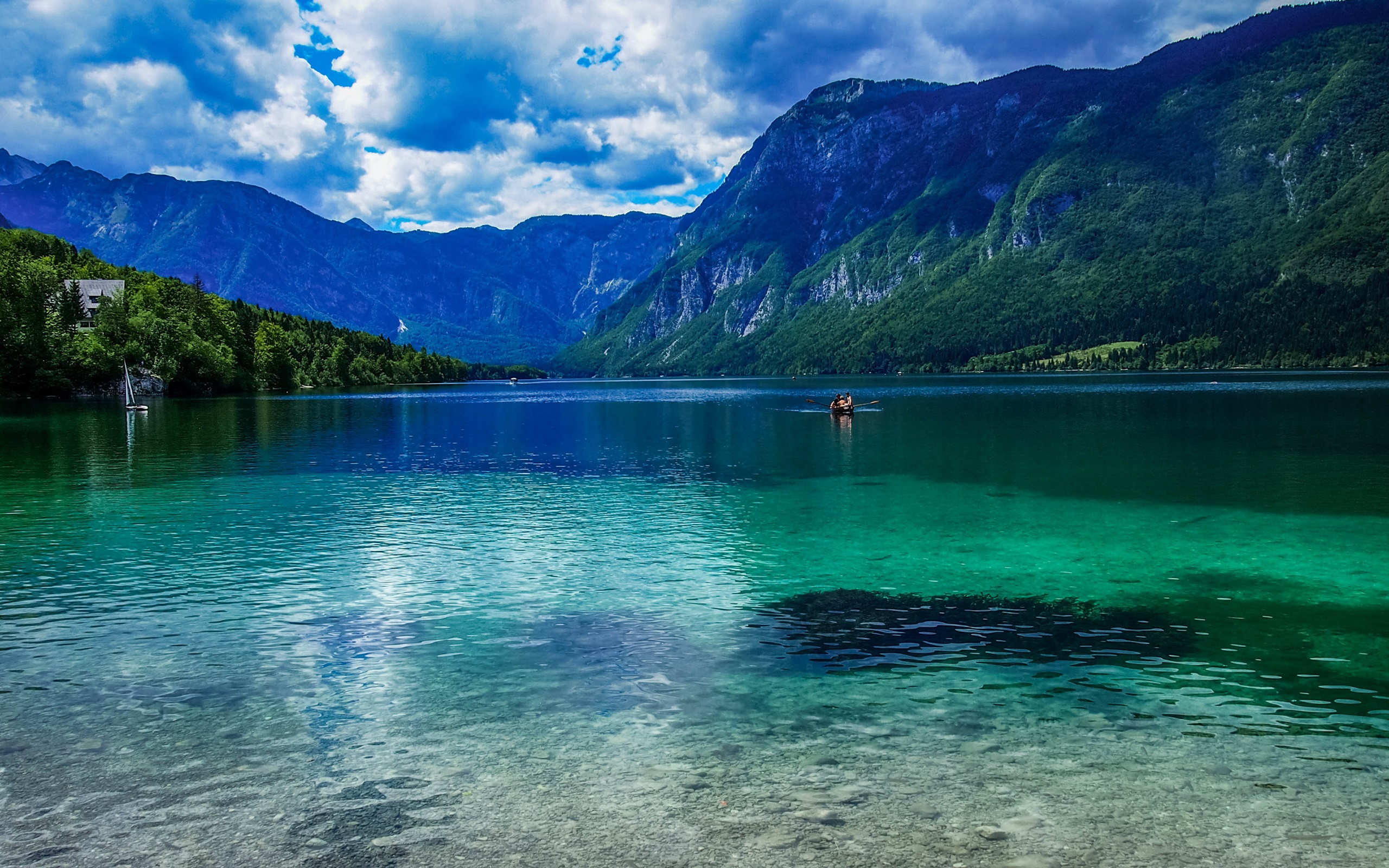 Голубое озеро в горах  № 2798894 без смс