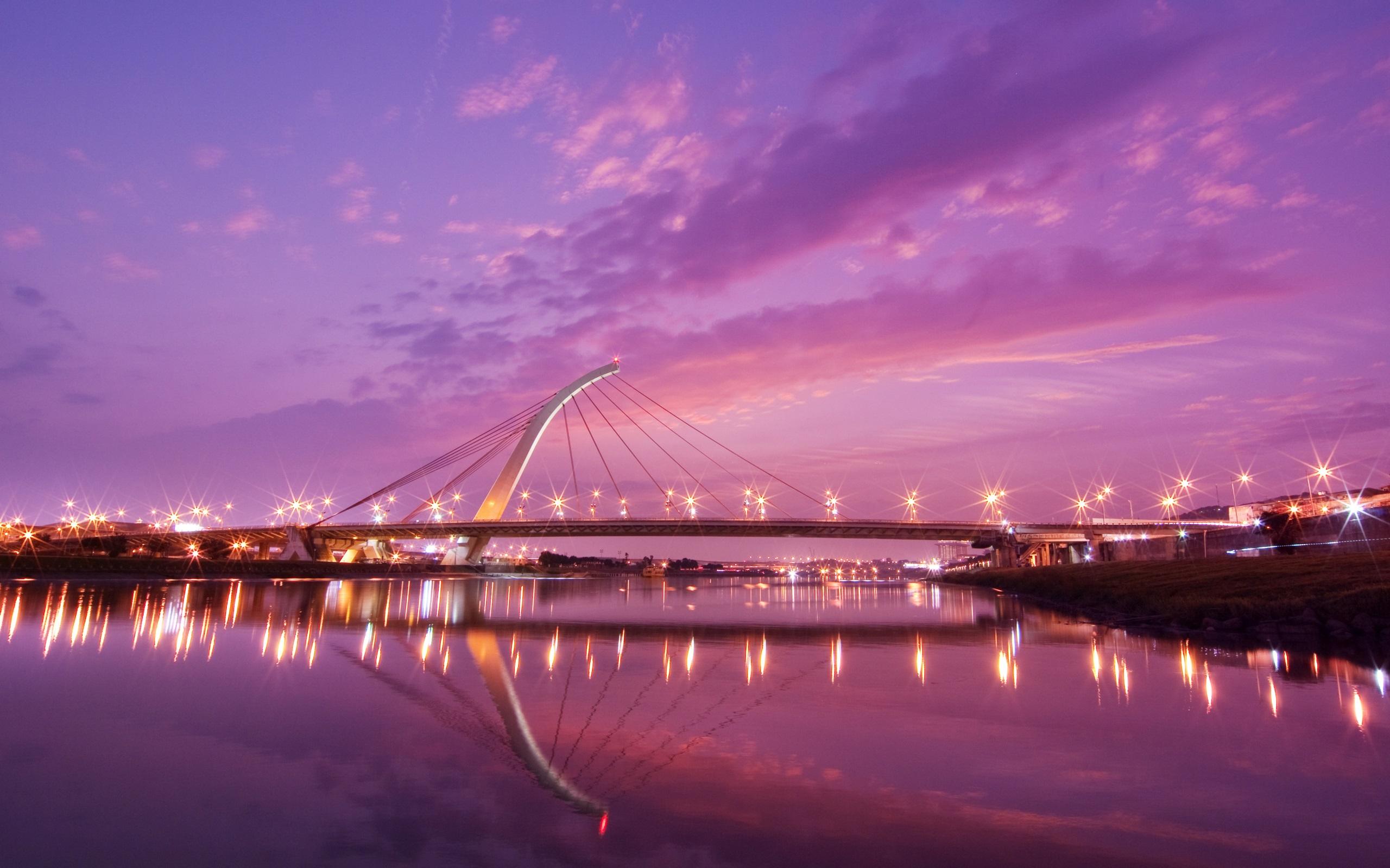 Город мост через реку  № 3713181  скачать