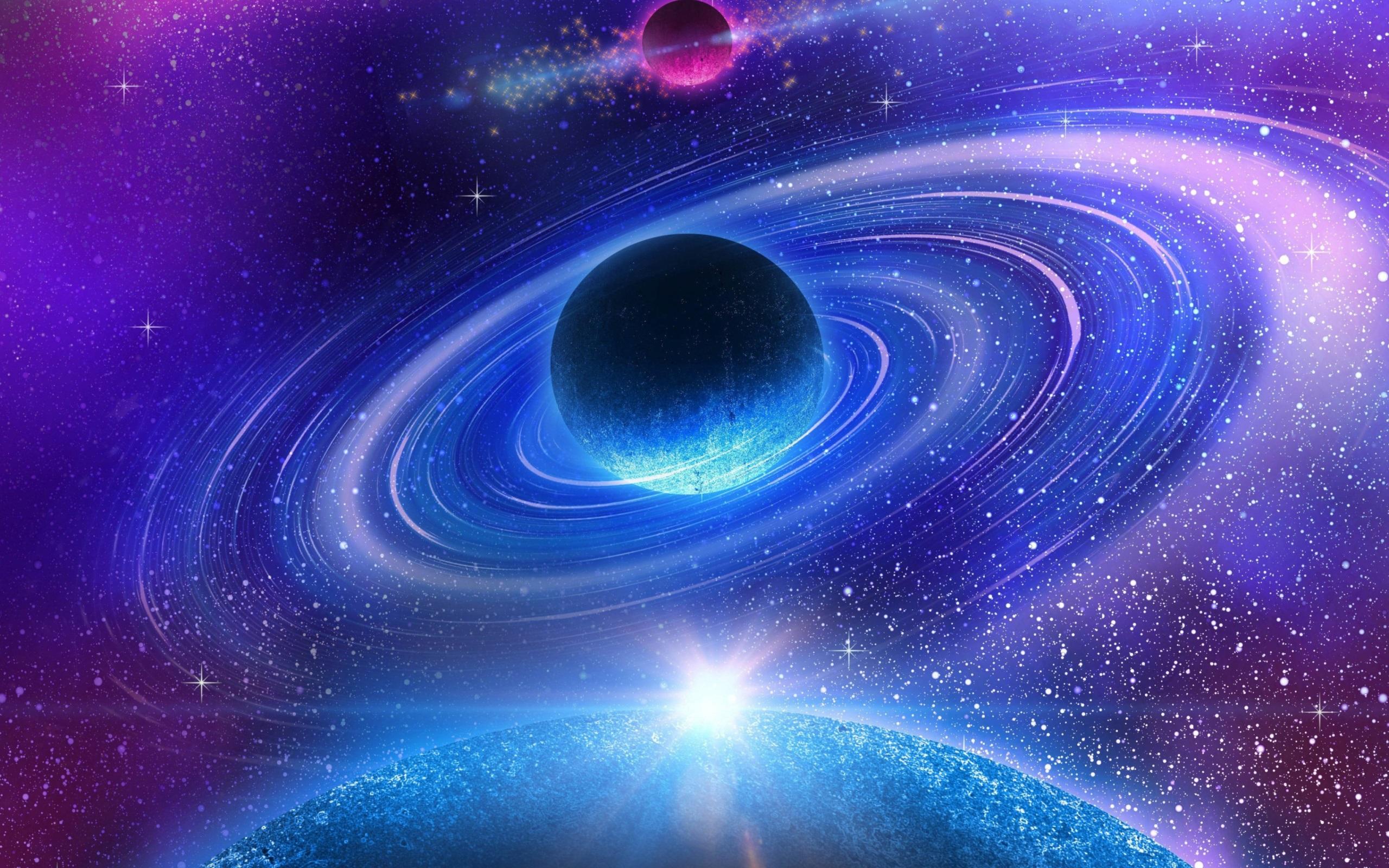 Fondos de pantalla hermoso espacio galaxia nebulosa planeta estrellas 2560x1600 hd imagen - Galaxy nebula live wallpaper ...
