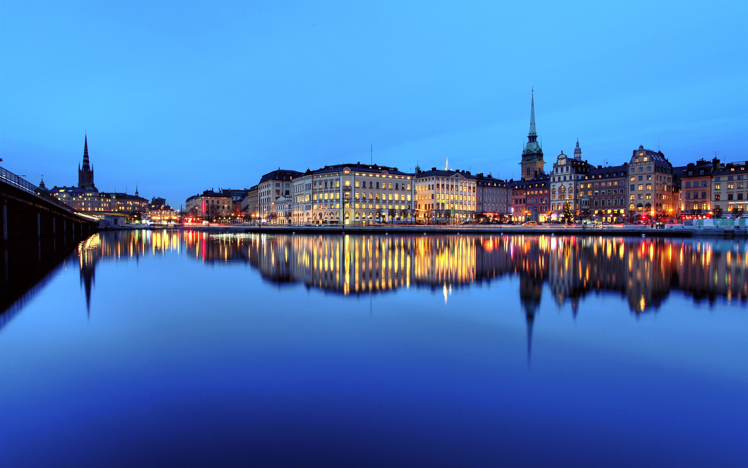 архитектура страны город река Стокгольм Швеция без смс