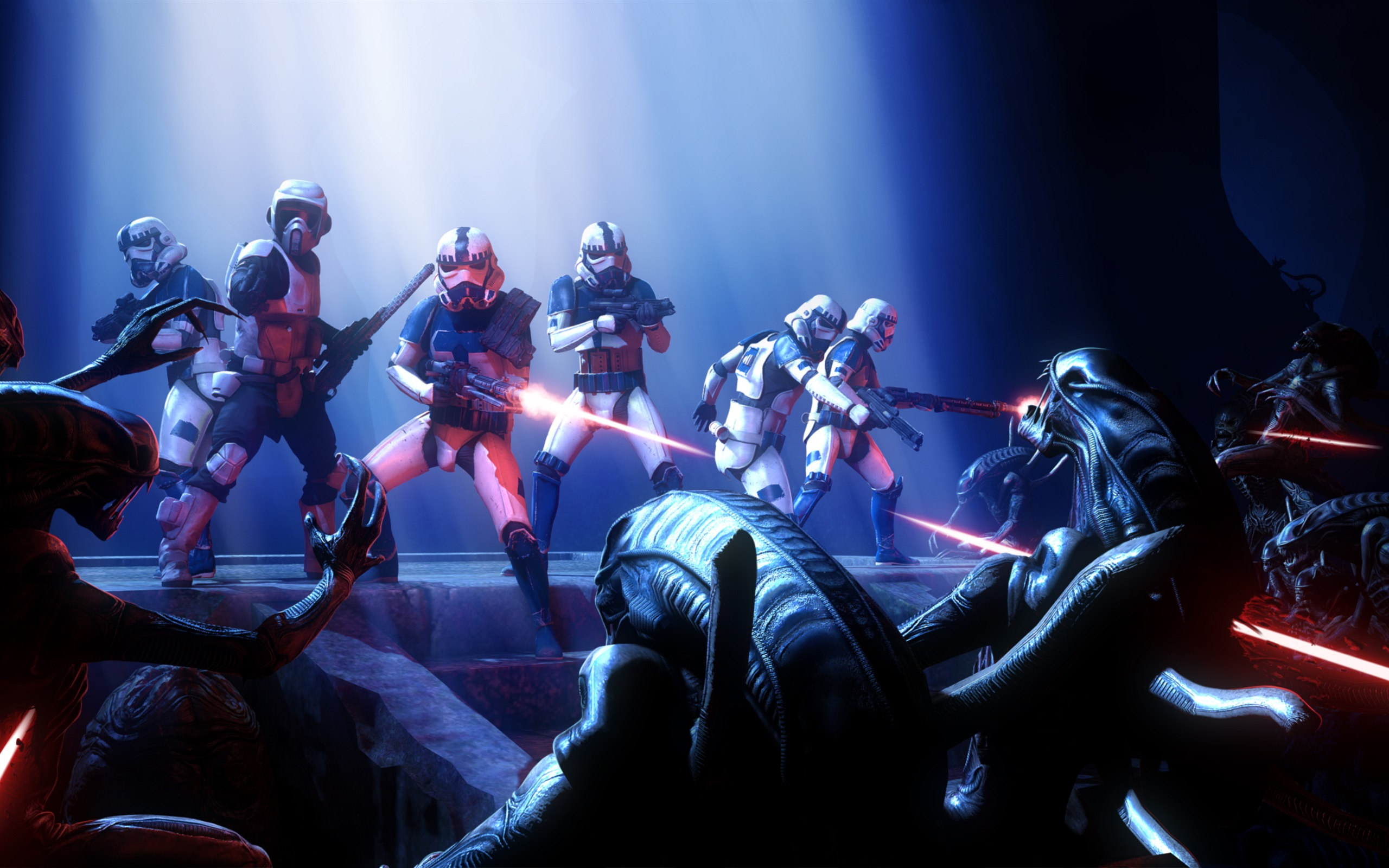 Wallpaper Star Wars Alien Pc Games 2560x1600 Hd Picture Image