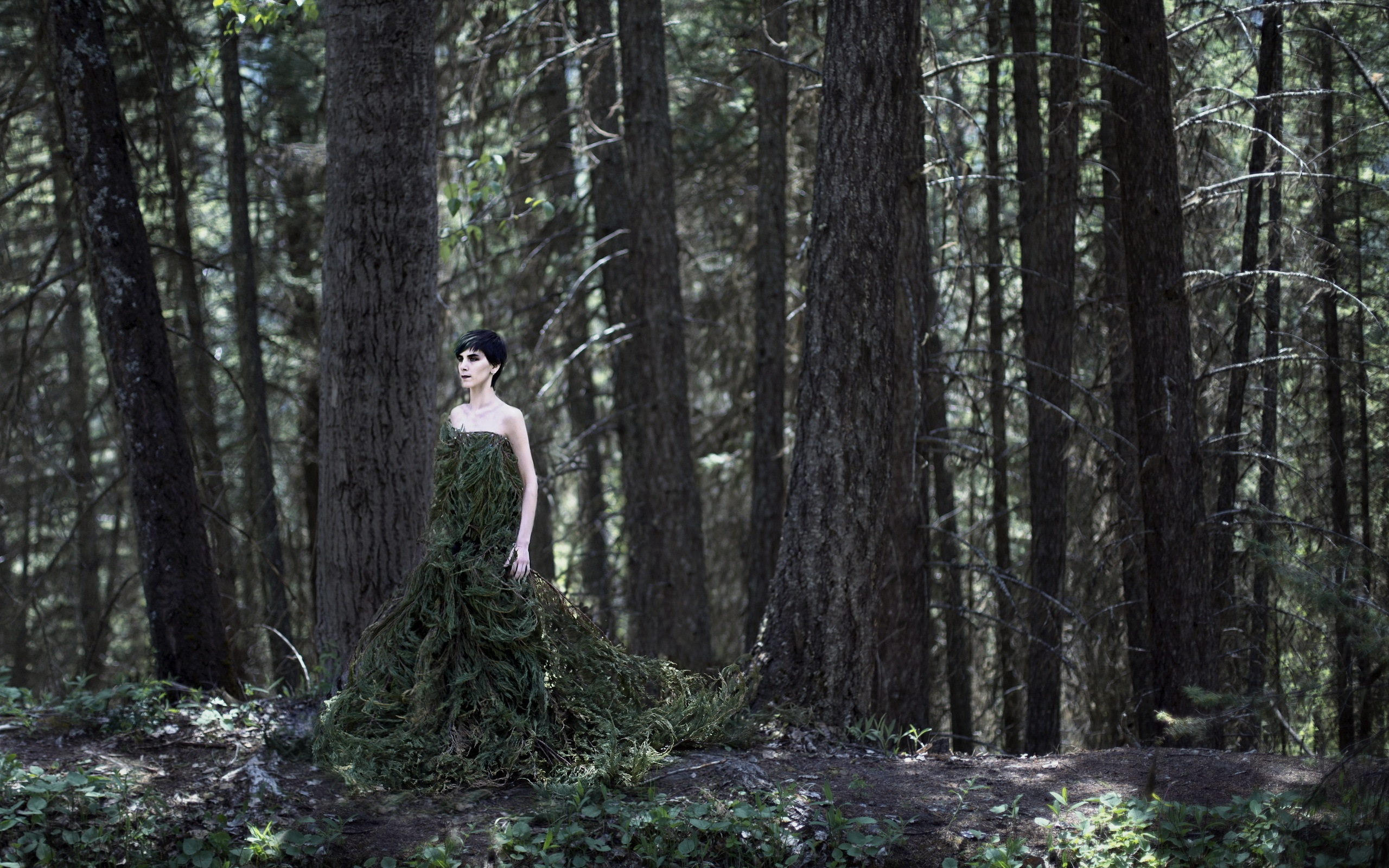 Top Wallpaper Forest Girl - Forest-girl-twigs-skirt_2560x1600  Pictures_43727 .jpg
