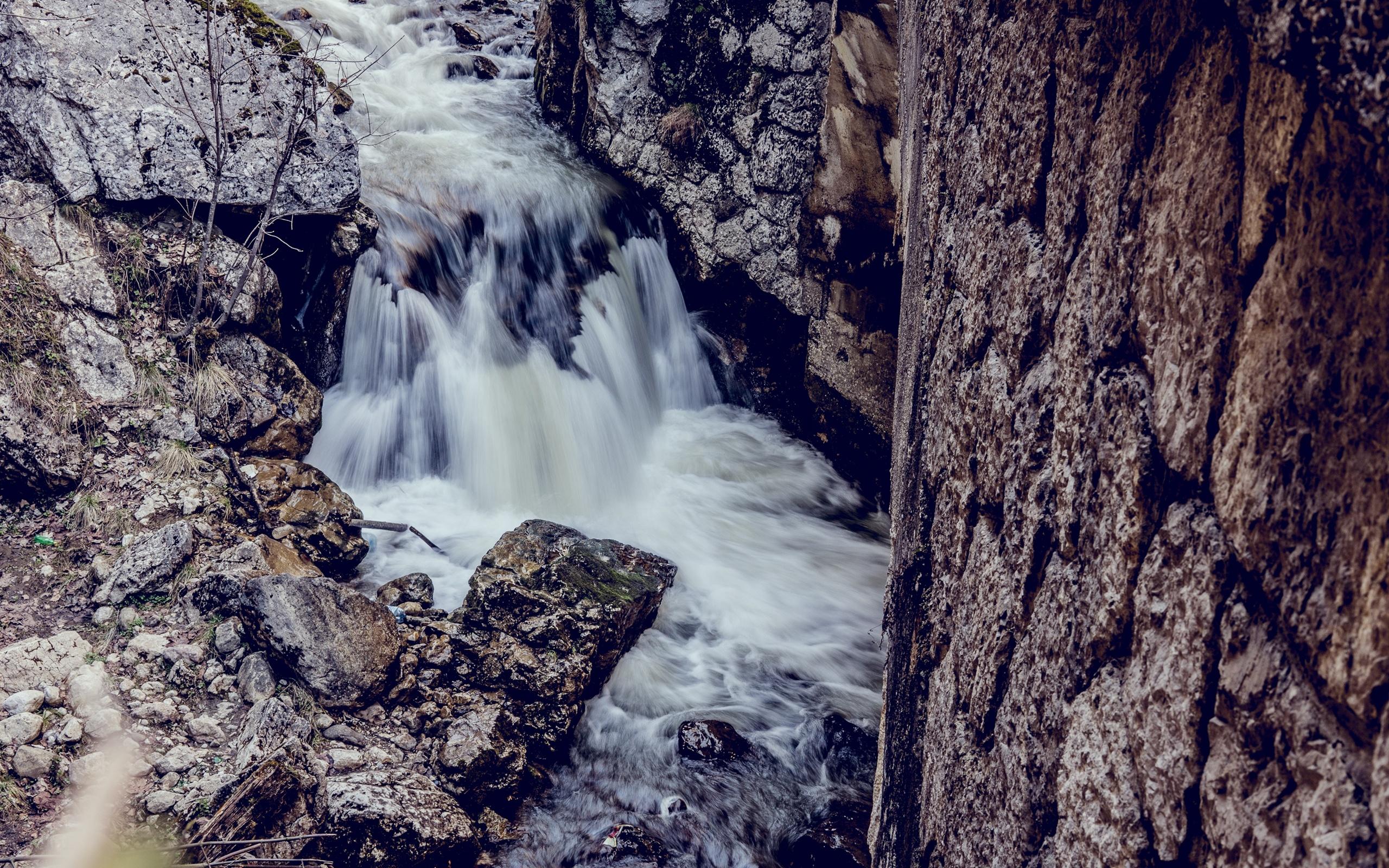 Stream rocks nature wallpaper 2560x1600 resolution - Nature wallpaper 2560x1600 ...