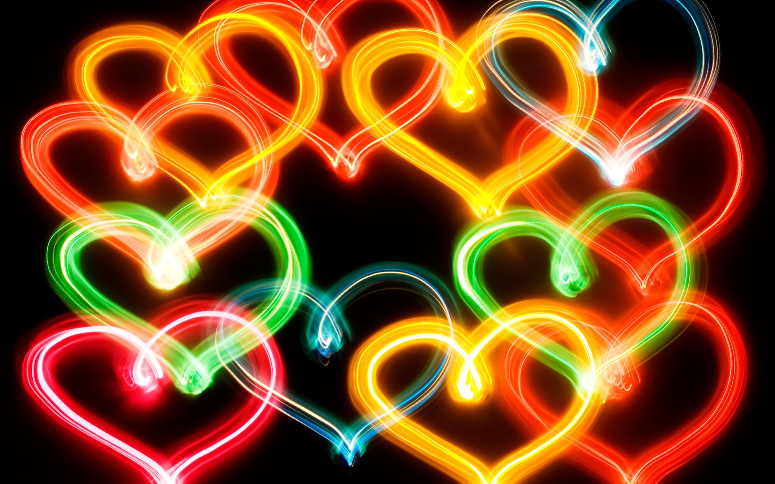 Colorful neon love