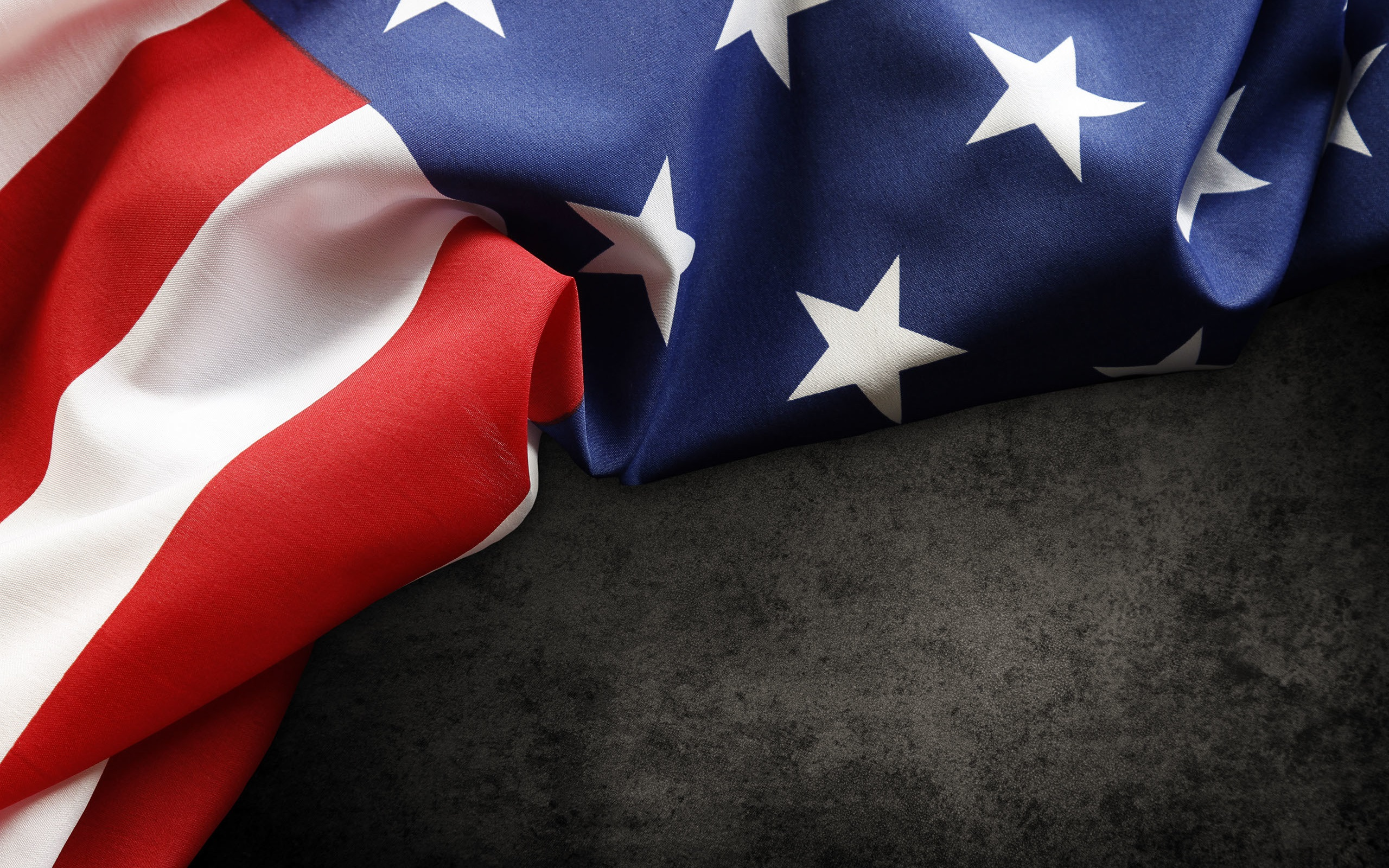 Wallpaper Usa Flag Fabric 2560x1600 Hd Picture Image