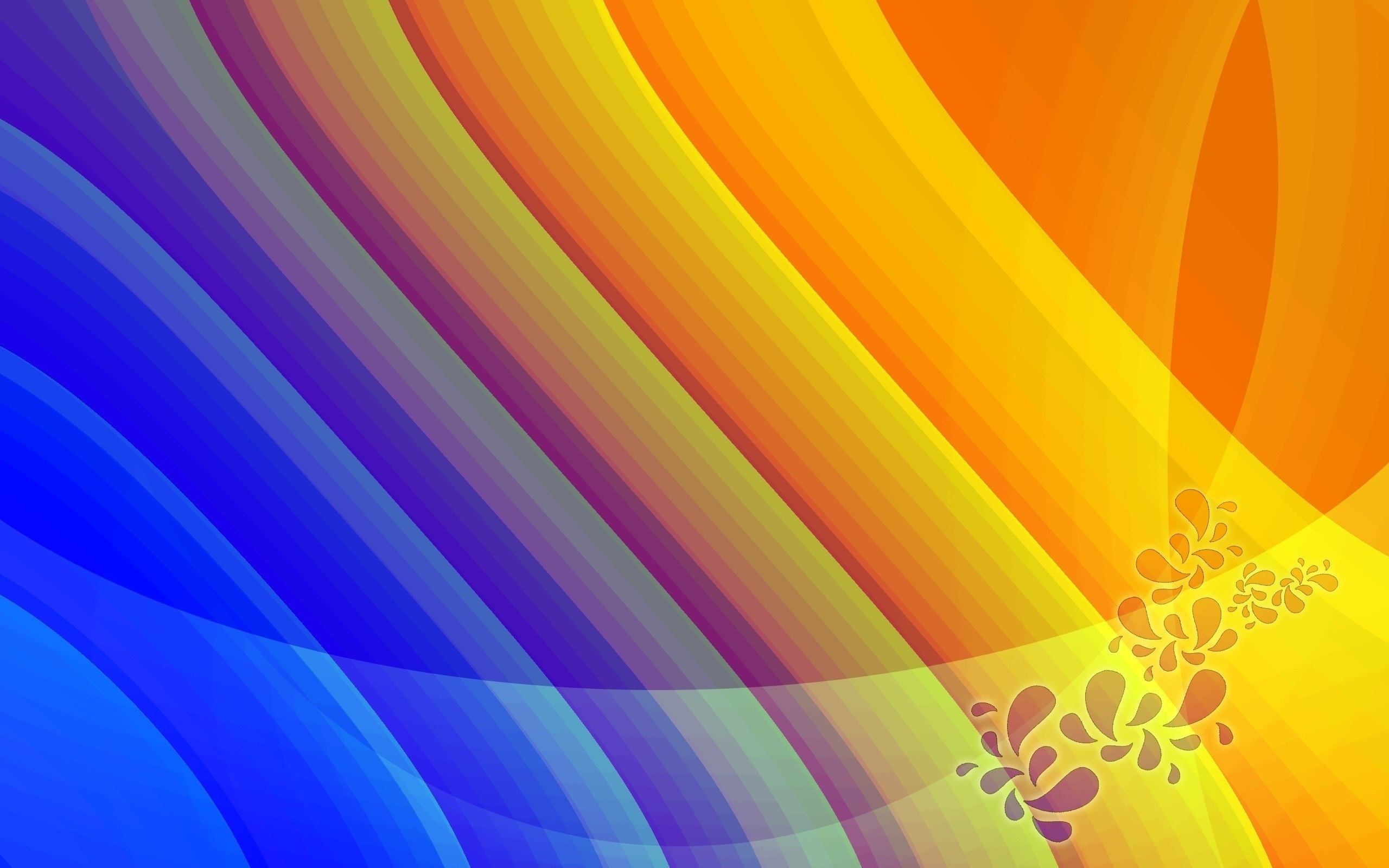 Wallpaper Beautiful Patterns Lines Bright Colors 2560x1600