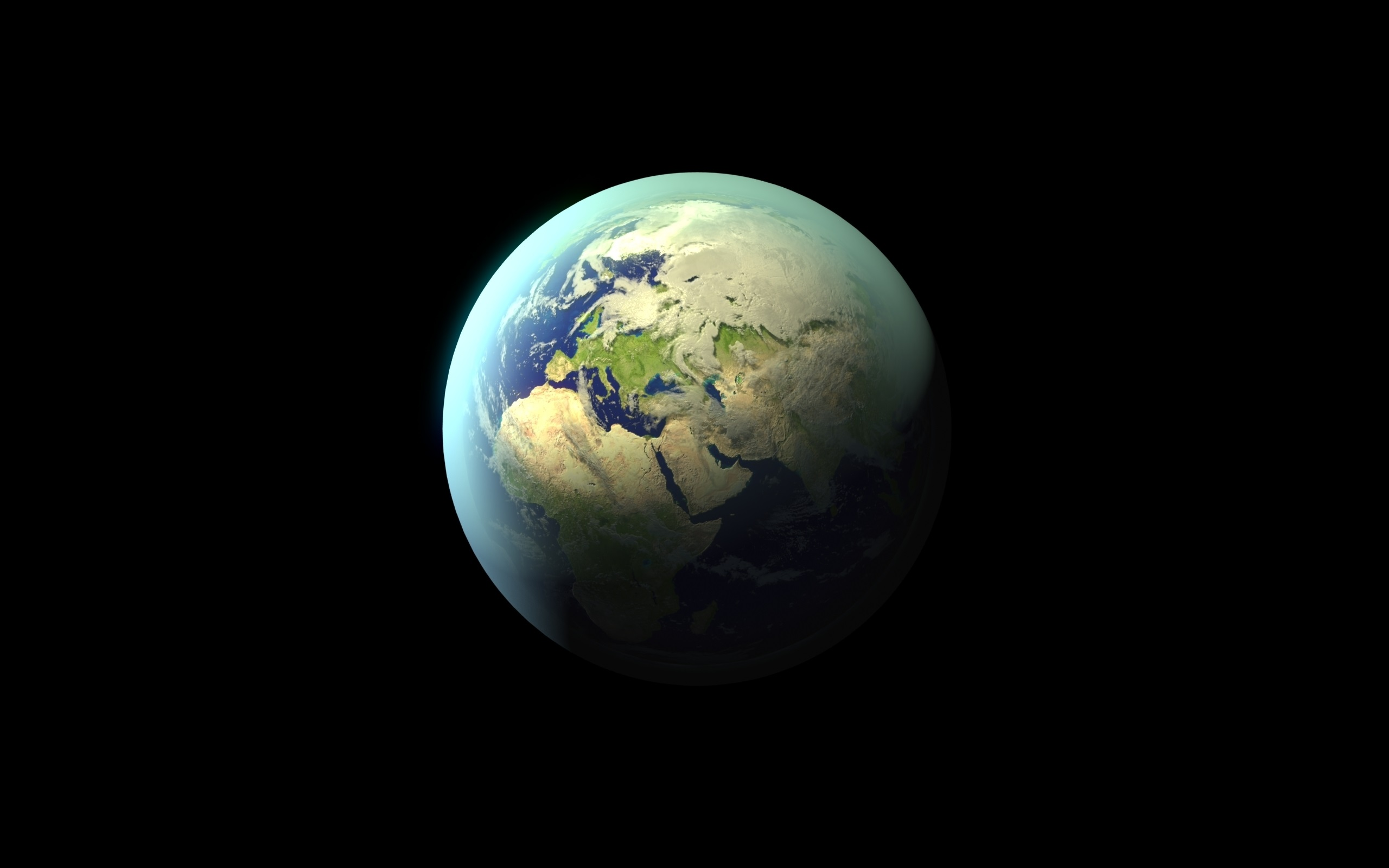Wallpaper Earth Planet Black Background 2560x1600 Hd Picture Image