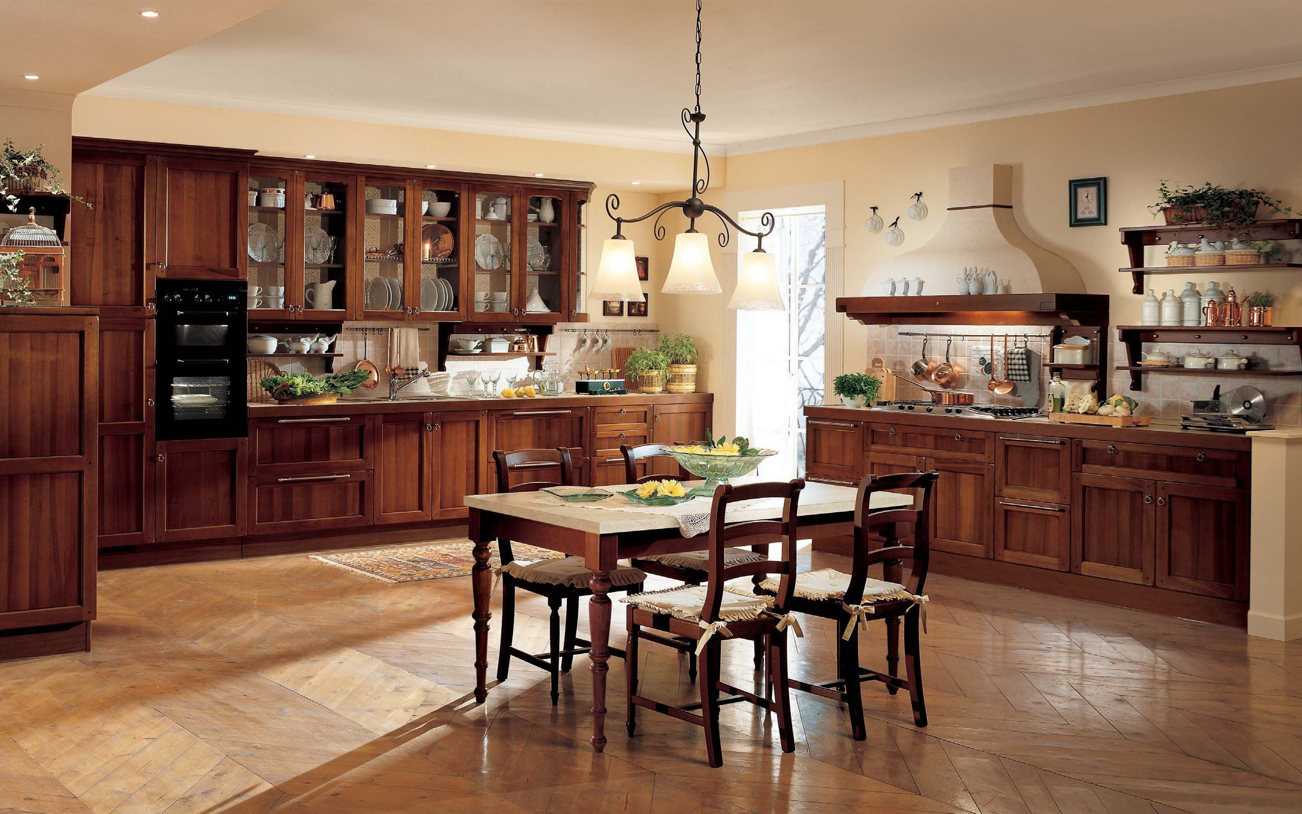Fondos de pantalla cocina comedor interior mesa - Interior muebles cocina ...