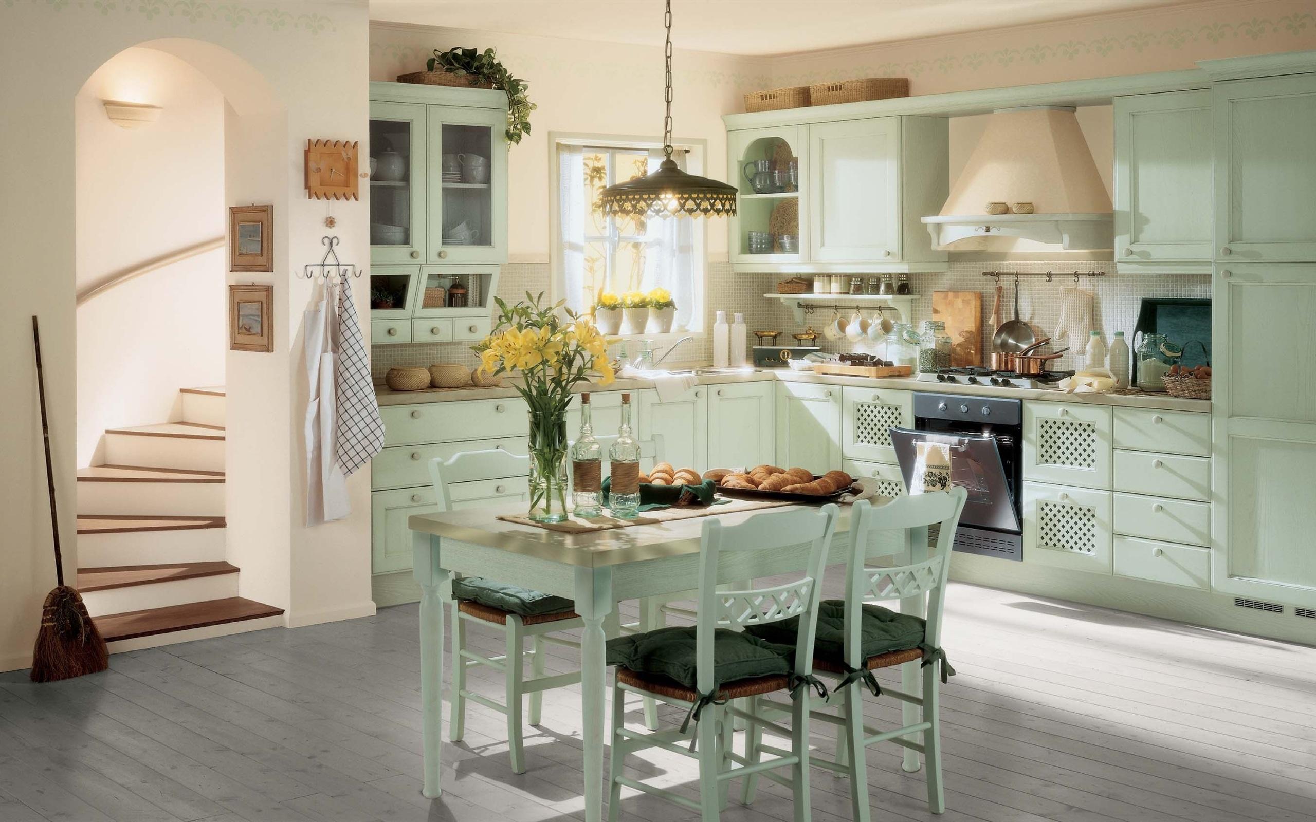 Küche, Zimmer, Interieur, Vintage 2560x1600 HD Hintergrundbilder, HD ...