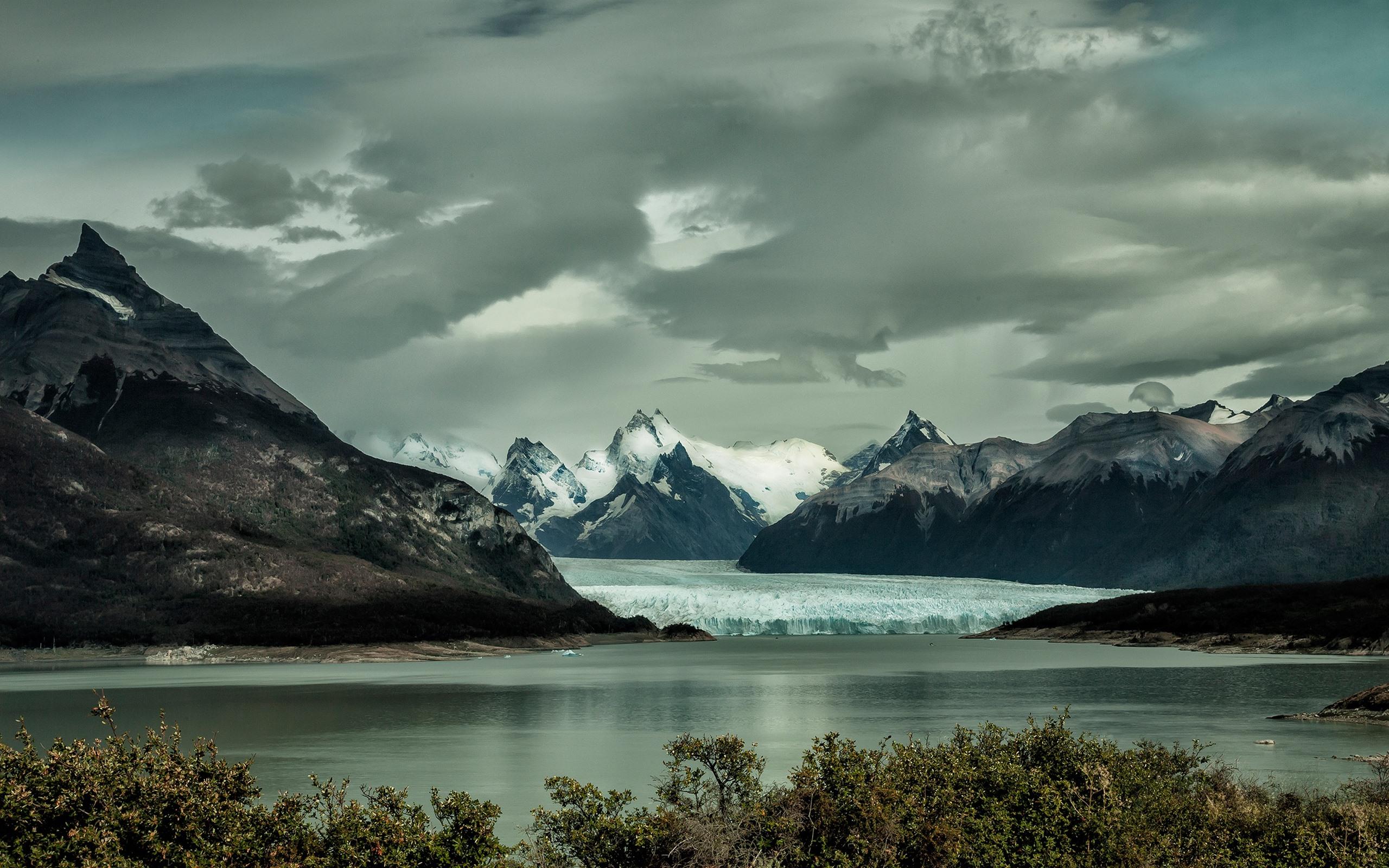 Lago Con Montañas Nevadas Hd: Fondos De Pantalla Montañas, Iceberg, Nieve, Lago