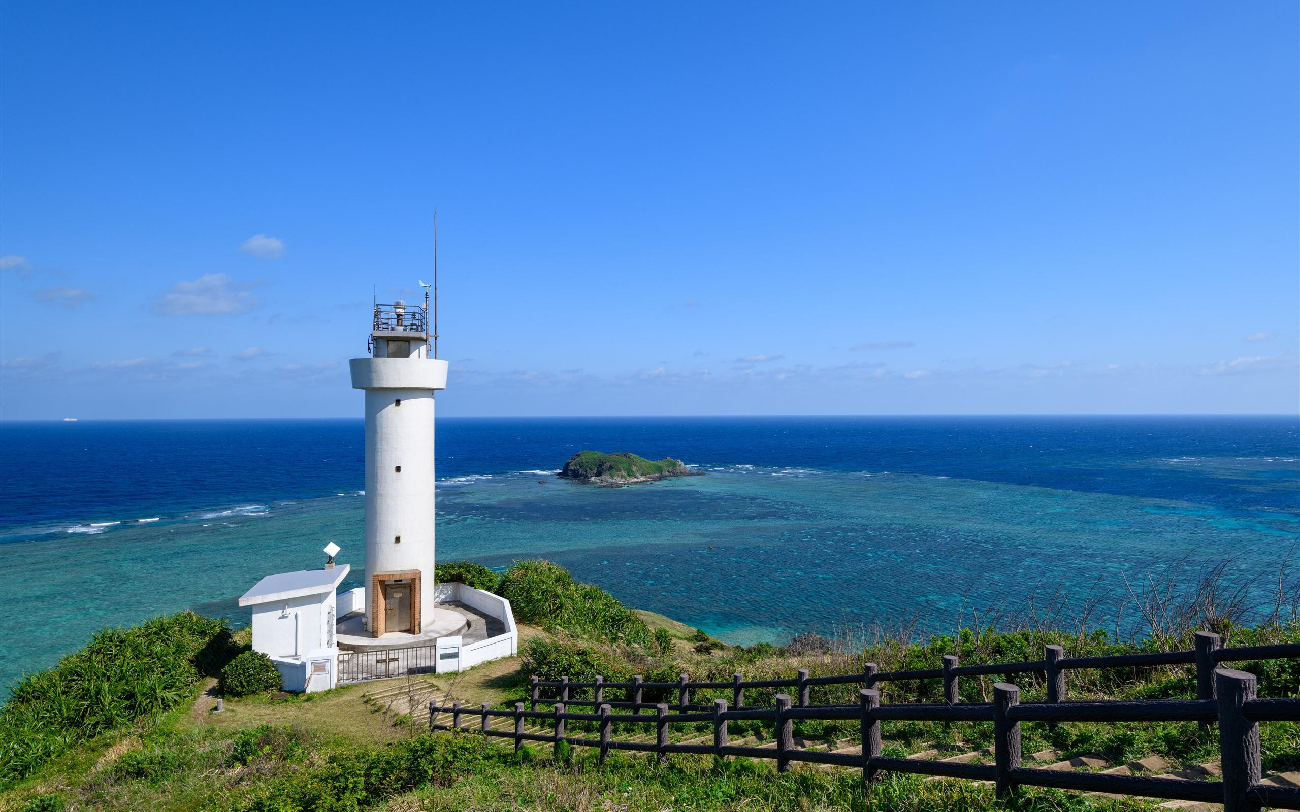 Wallpaper Japan Lighthouse Sea Coast 7680x4320 Uhd 8k