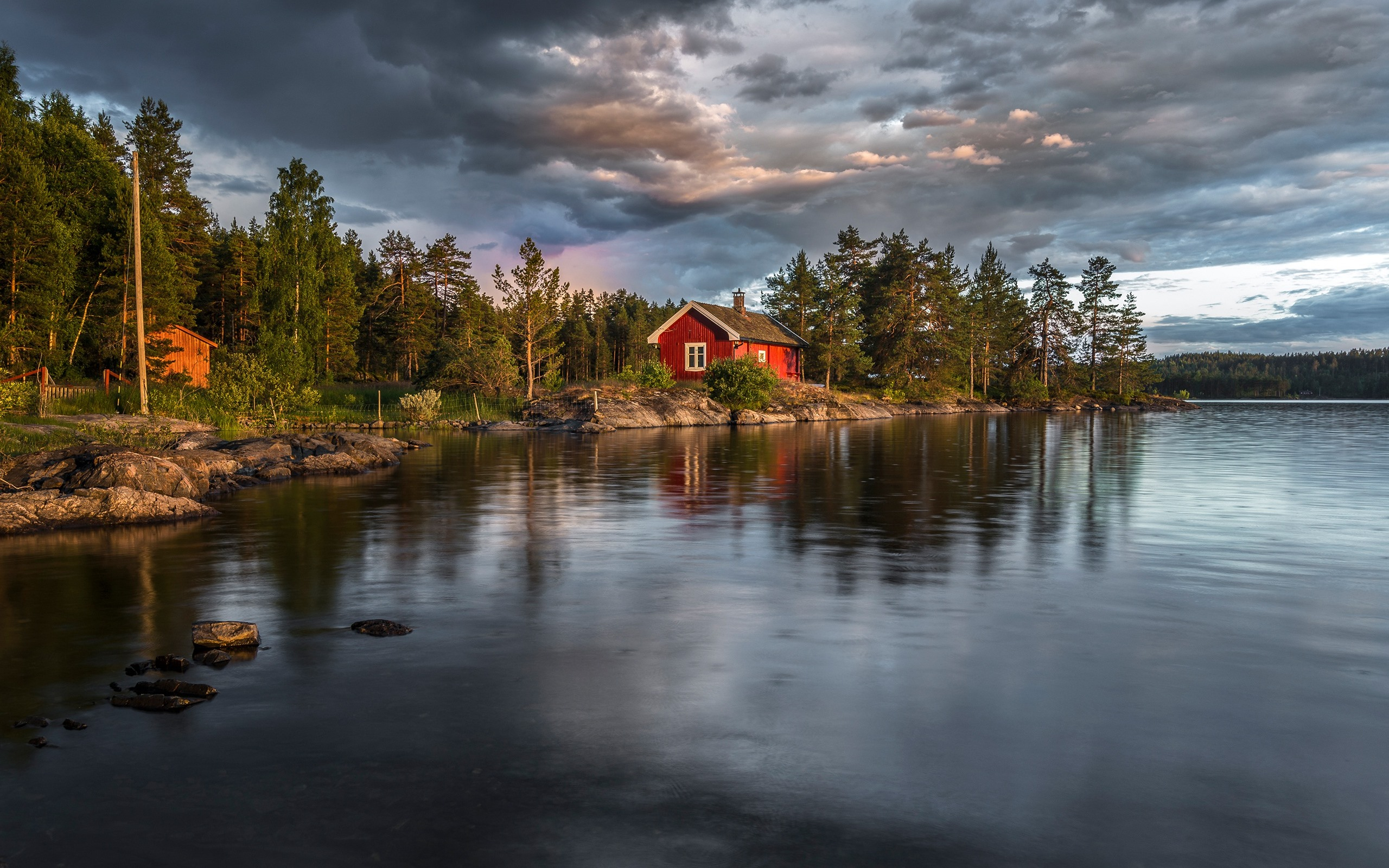 Norway Lake Trees House 750x1334 Iphone 8 7 6 6s