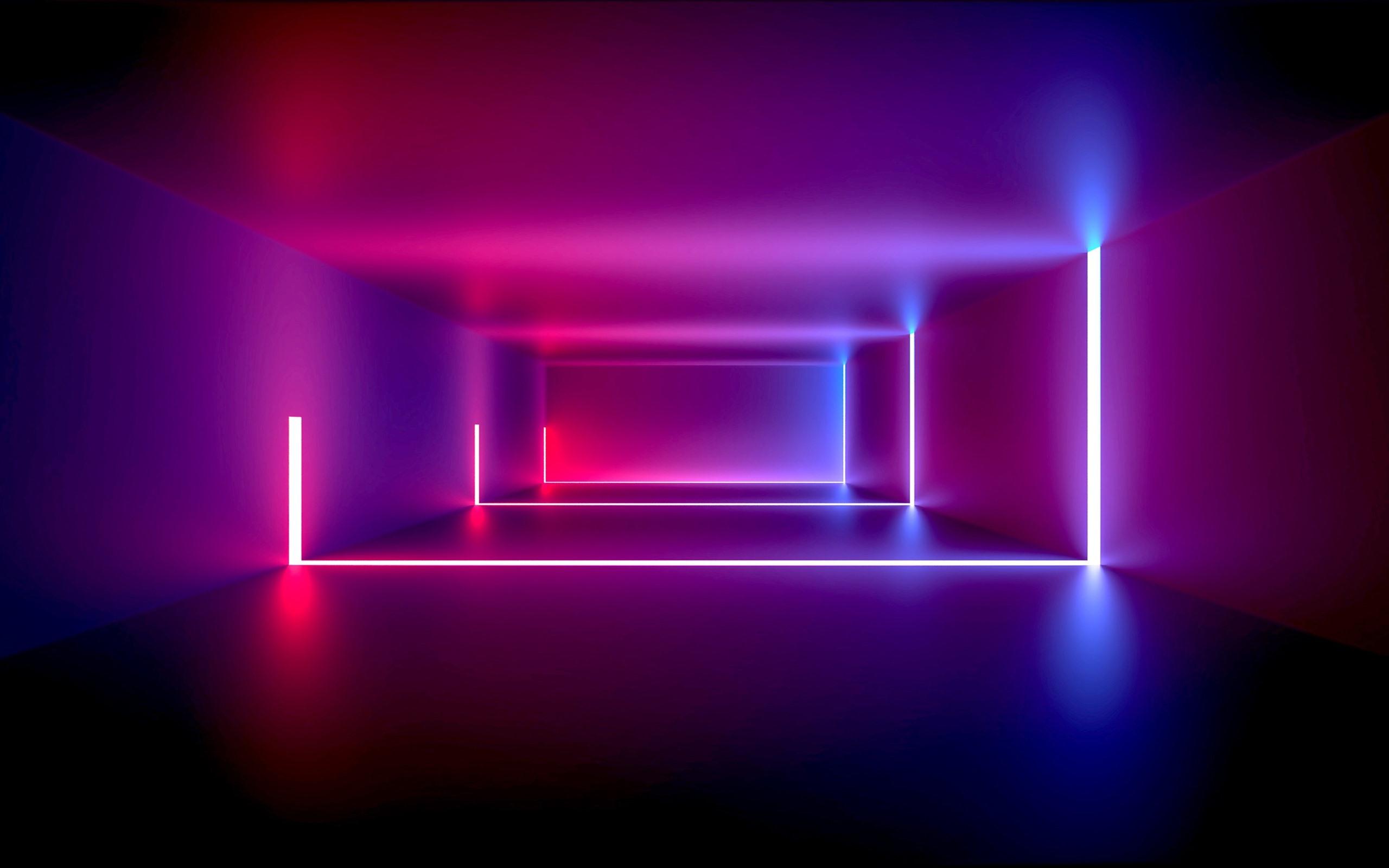 壁紙 部屋 ネオンライト パープルスタイル 抽象的なデザイン