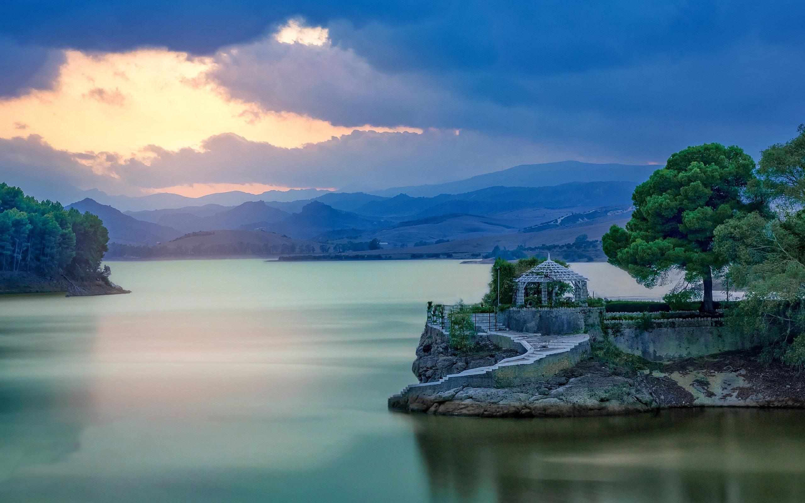 Fonds Décran Espagne Malaga Belvédère Montagne Lac