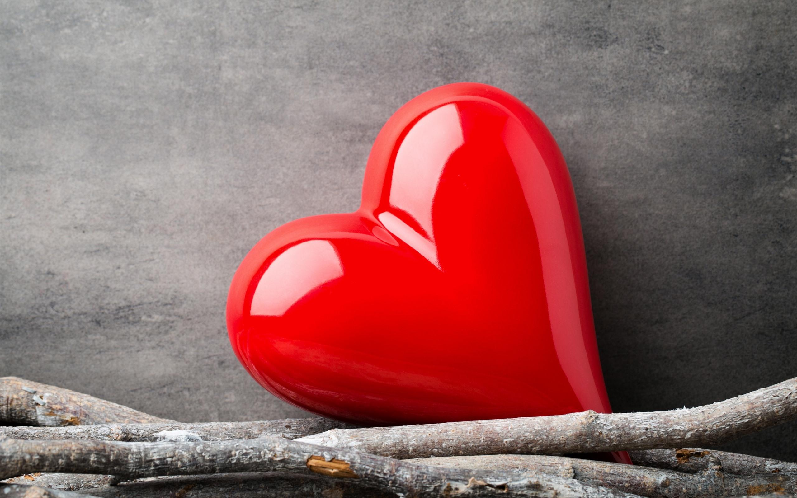 Fonds Décran Un Coeur Damour Rouge 2560x1600 Hd Image