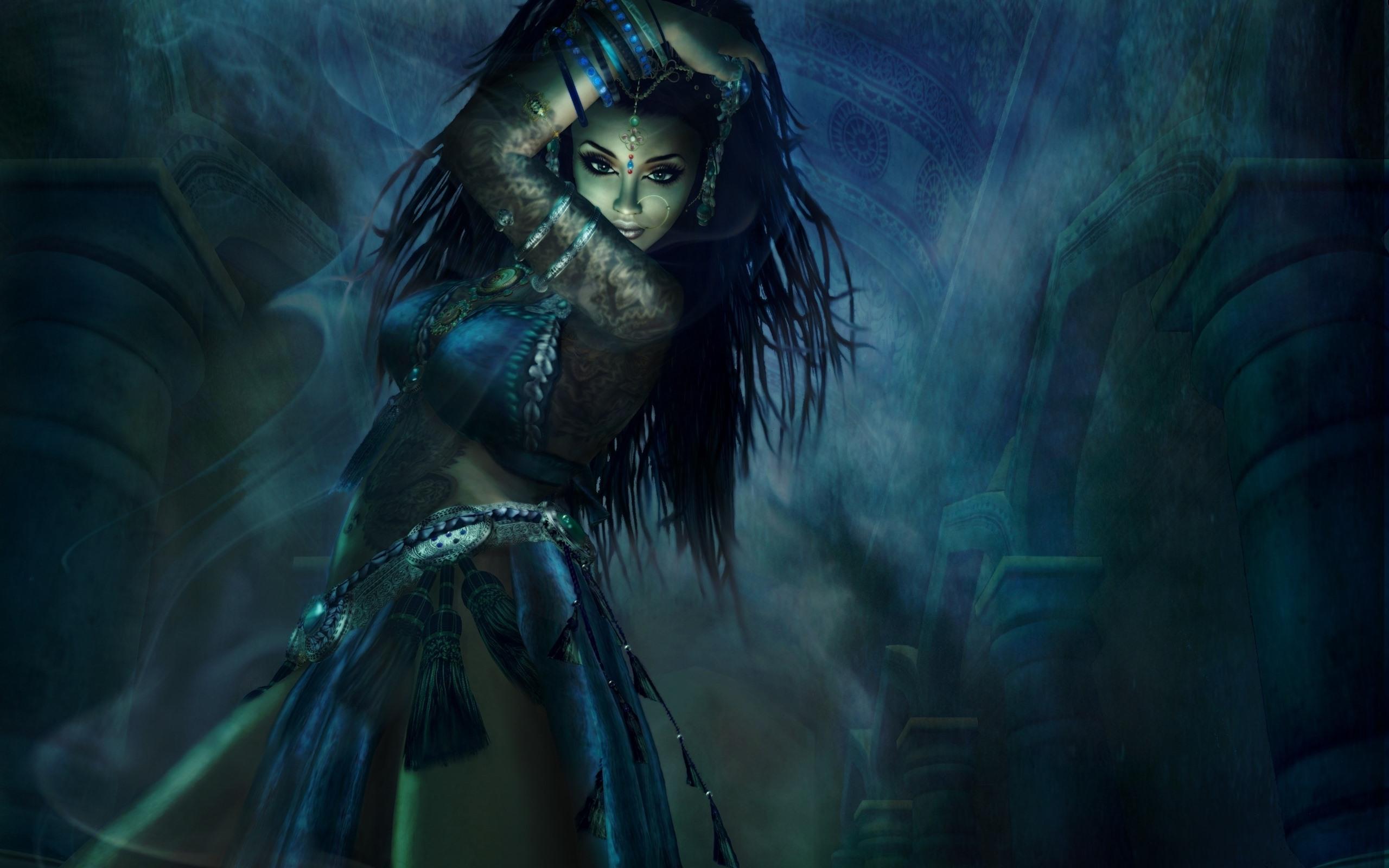 Fantasy Art Female Adventurer Curly Hair