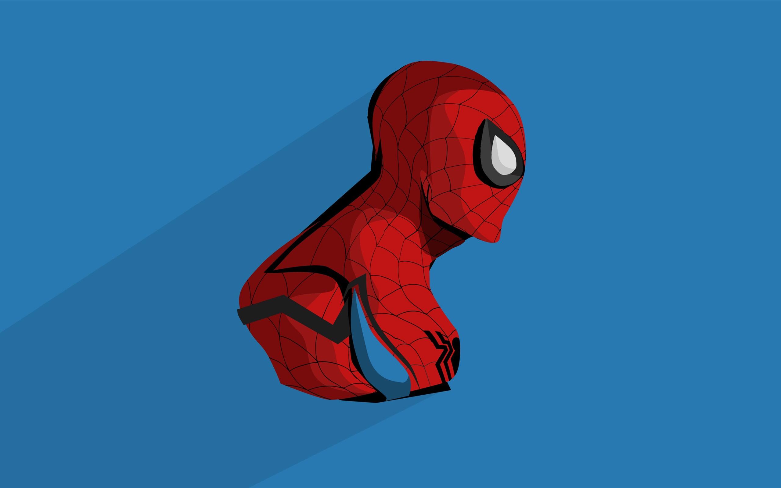 Wallpaper Spider Man Anime Blue Background 3840x2160 Uhd 4k