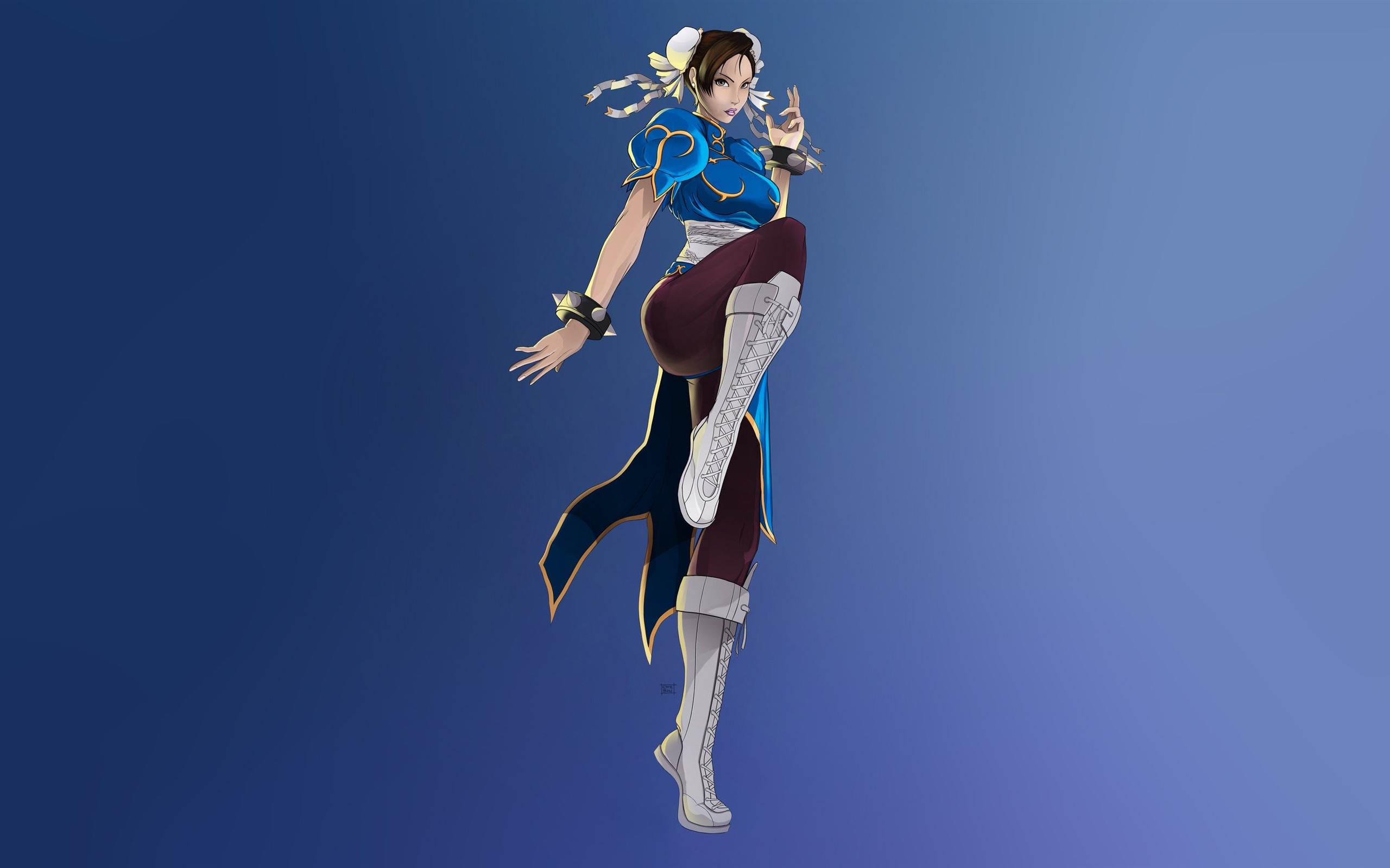 Wallpaper Street Fighter Chun Li Classic Game 2560x1600 Hd