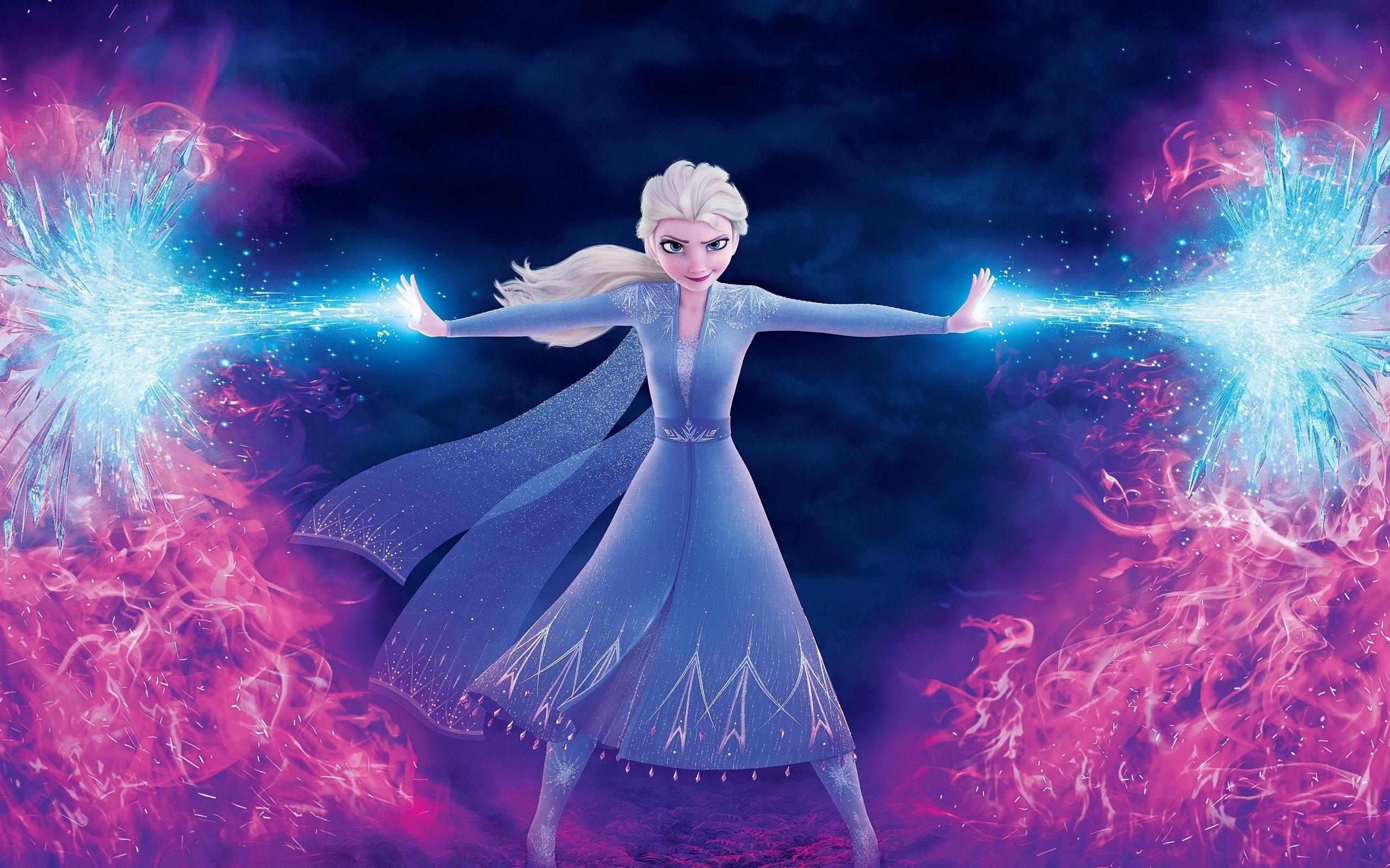 壁紙 エルザ 魔法 氷と炎 アナと雪の女王2 3840x2160 Uhd 4k 無料の