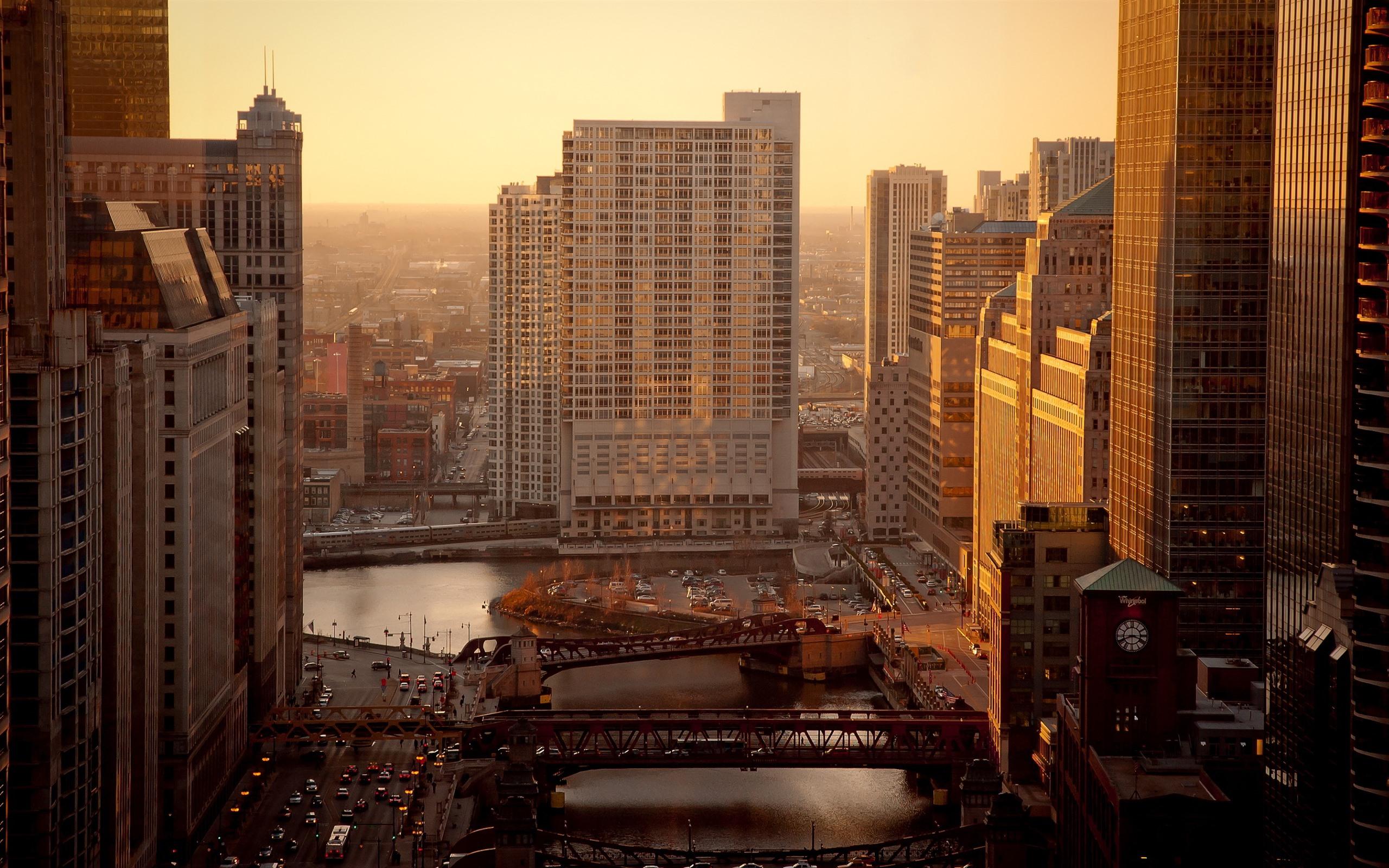 Обои дома, филадельфия, сша, небоскребы, утро. Города foto 8