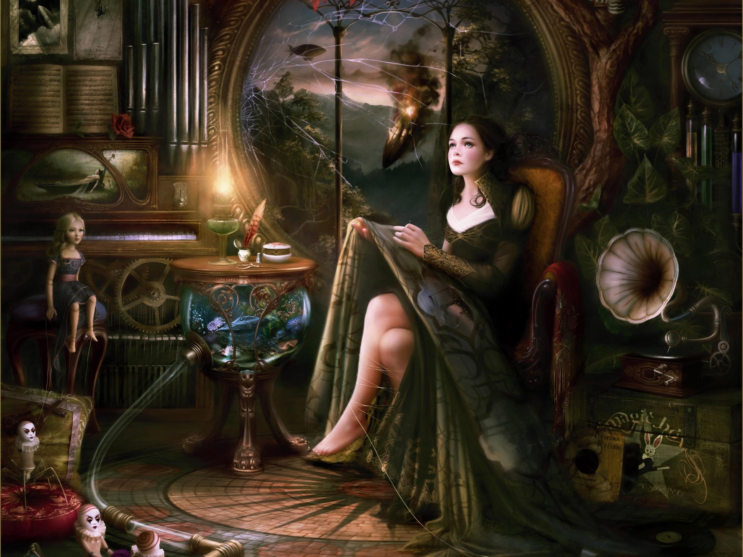 wallpaper beautiful girl of the fairy tale world 2560x1920 hd