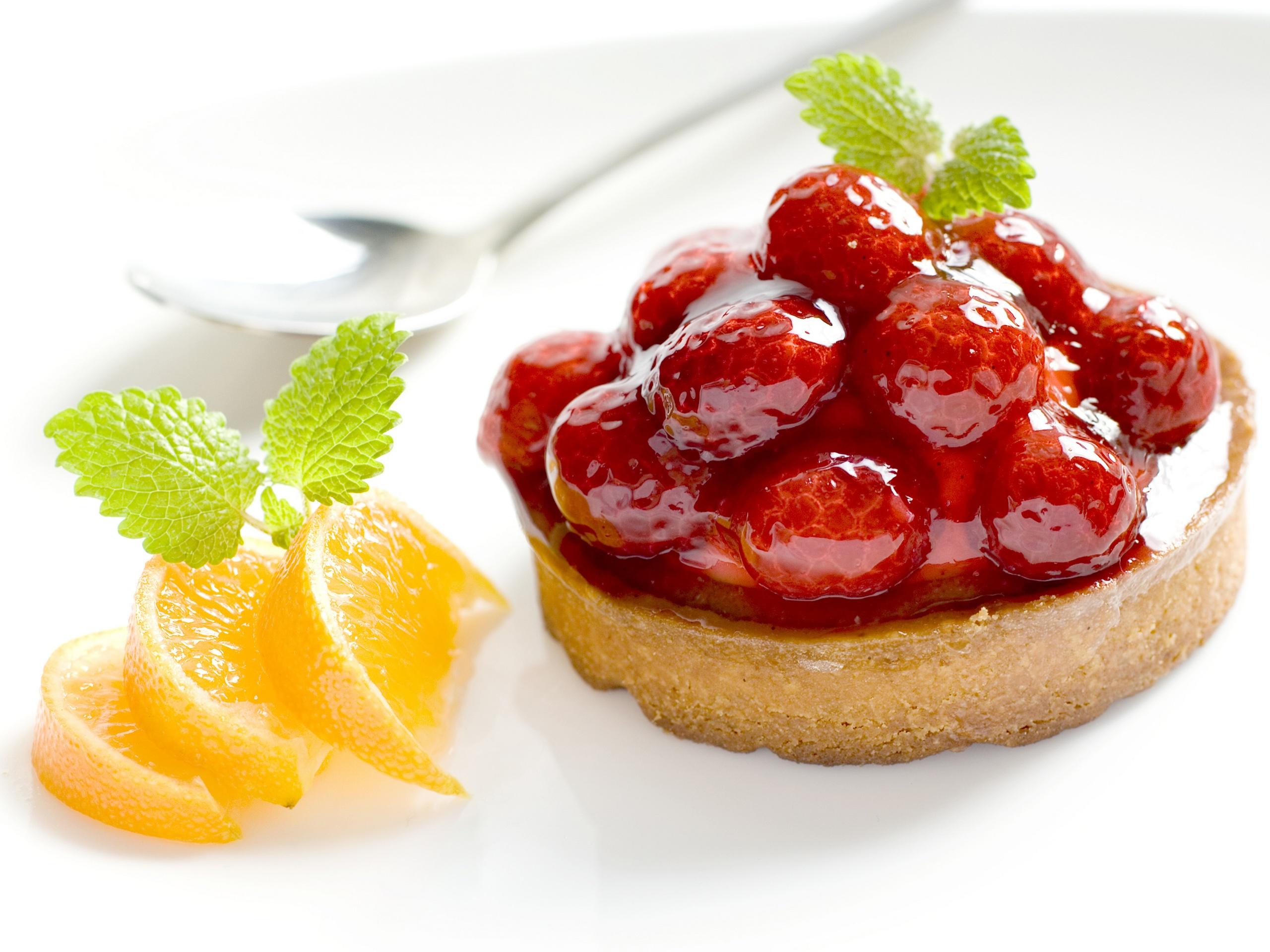 Fatias de laranja e sobremesas de frutas Papéis de Parede - 2560x1920