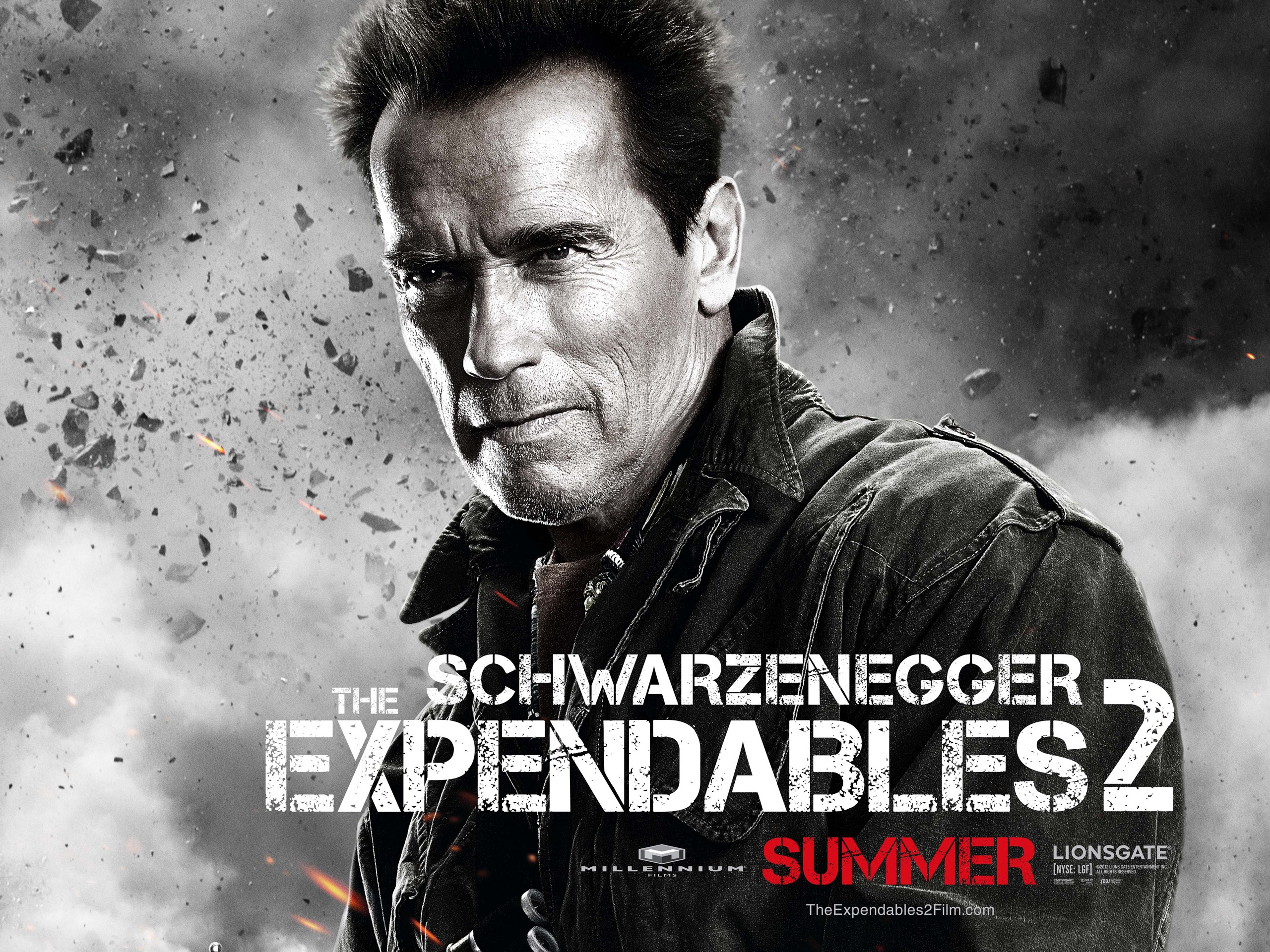 Wallpaper Arnold Schwarzenegger in The Expendables 2 movie
