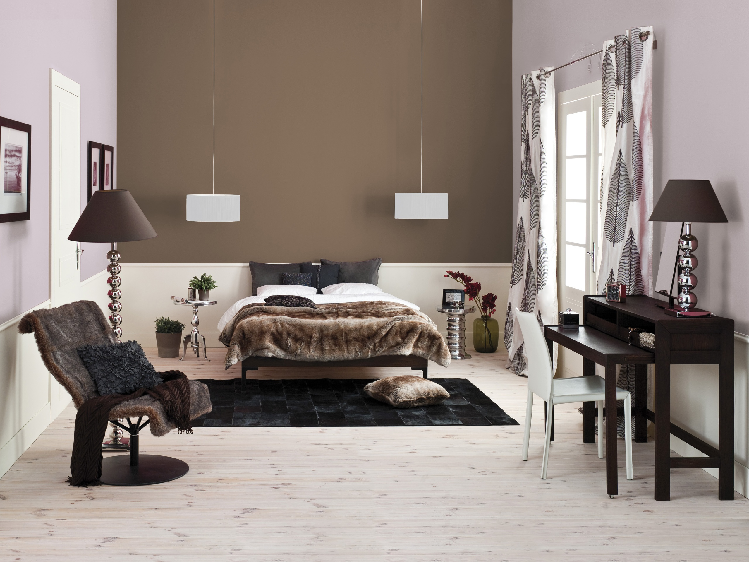 Wallpaper Interior design, cozy bedroom 2560x1920 HD ...