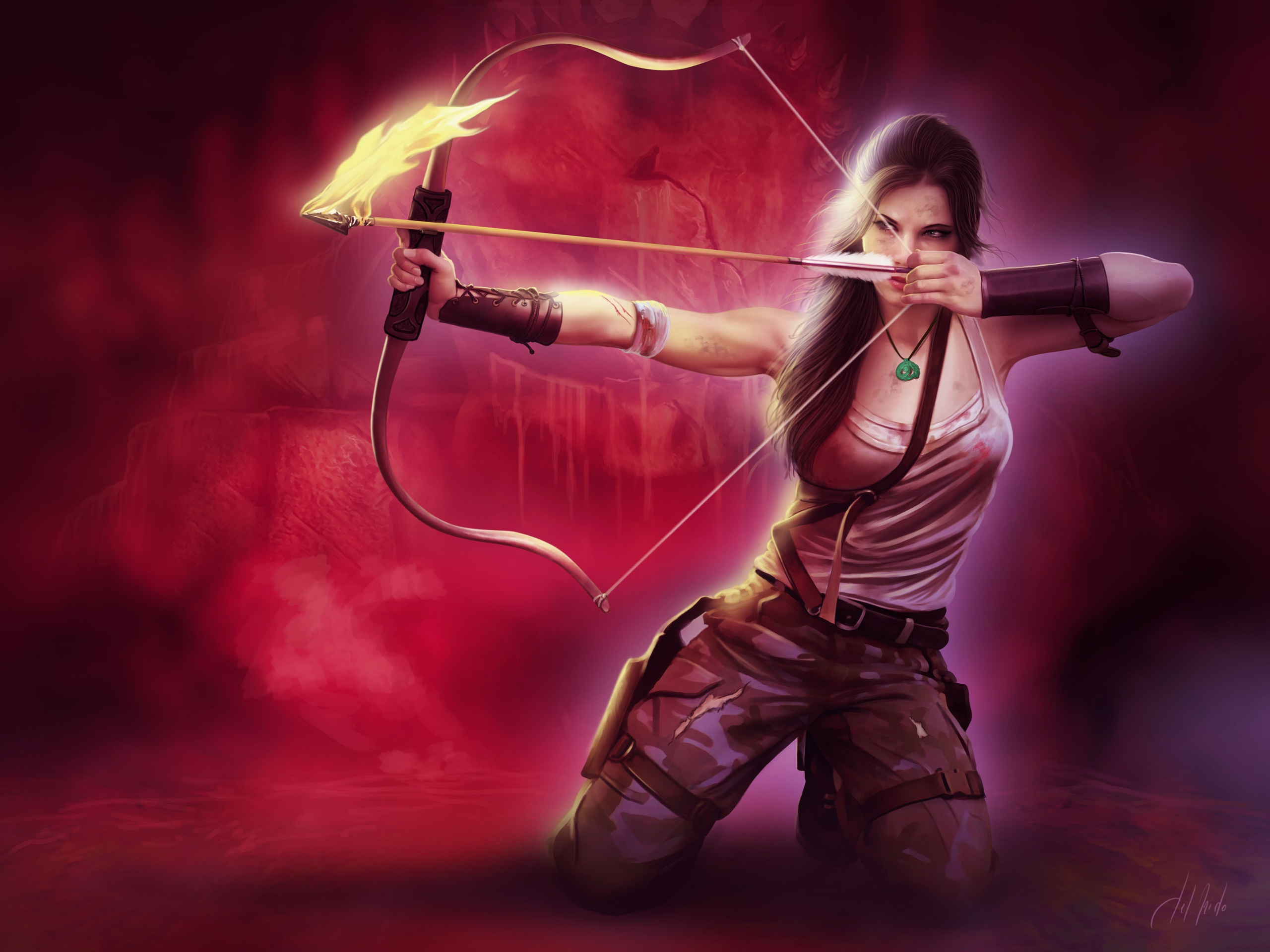 wallpaper girl bow lara - photo #7