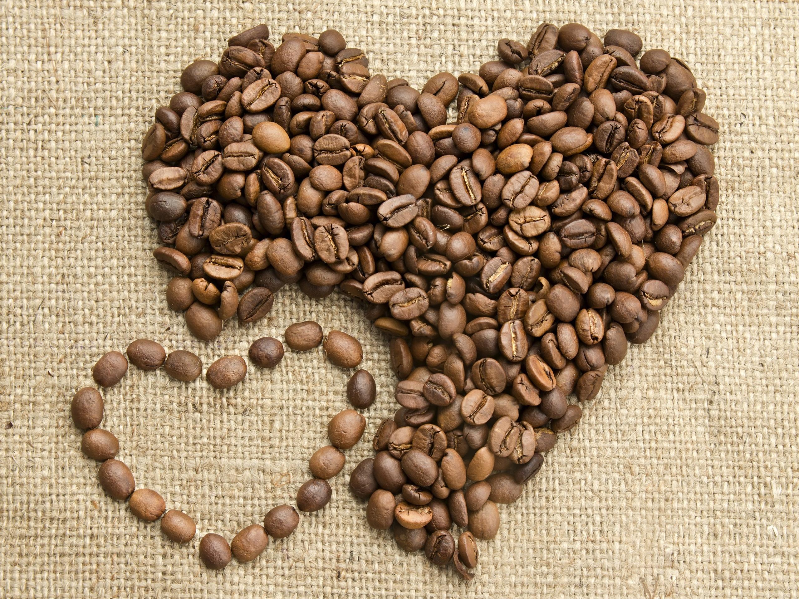 кофейные зерна мешковина ткань  № 3696117  скачать