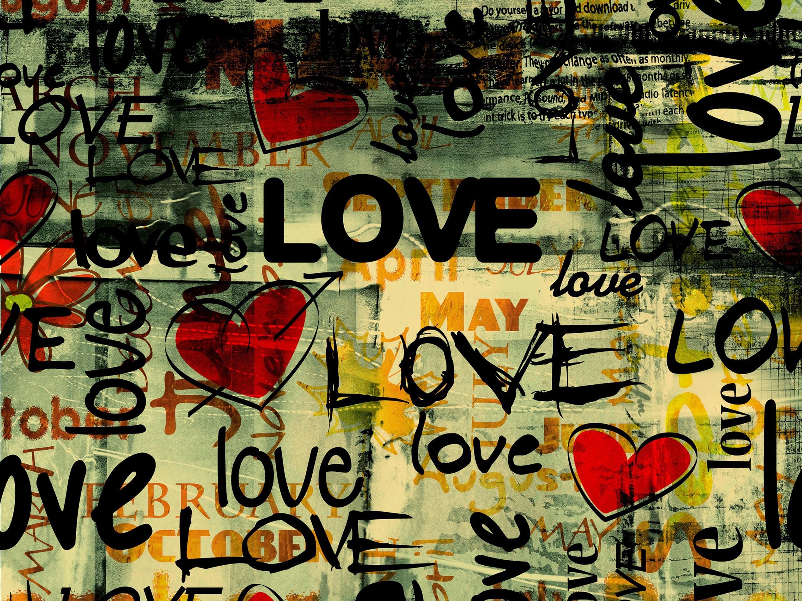 Обои с надписями про любовь для стен, марта