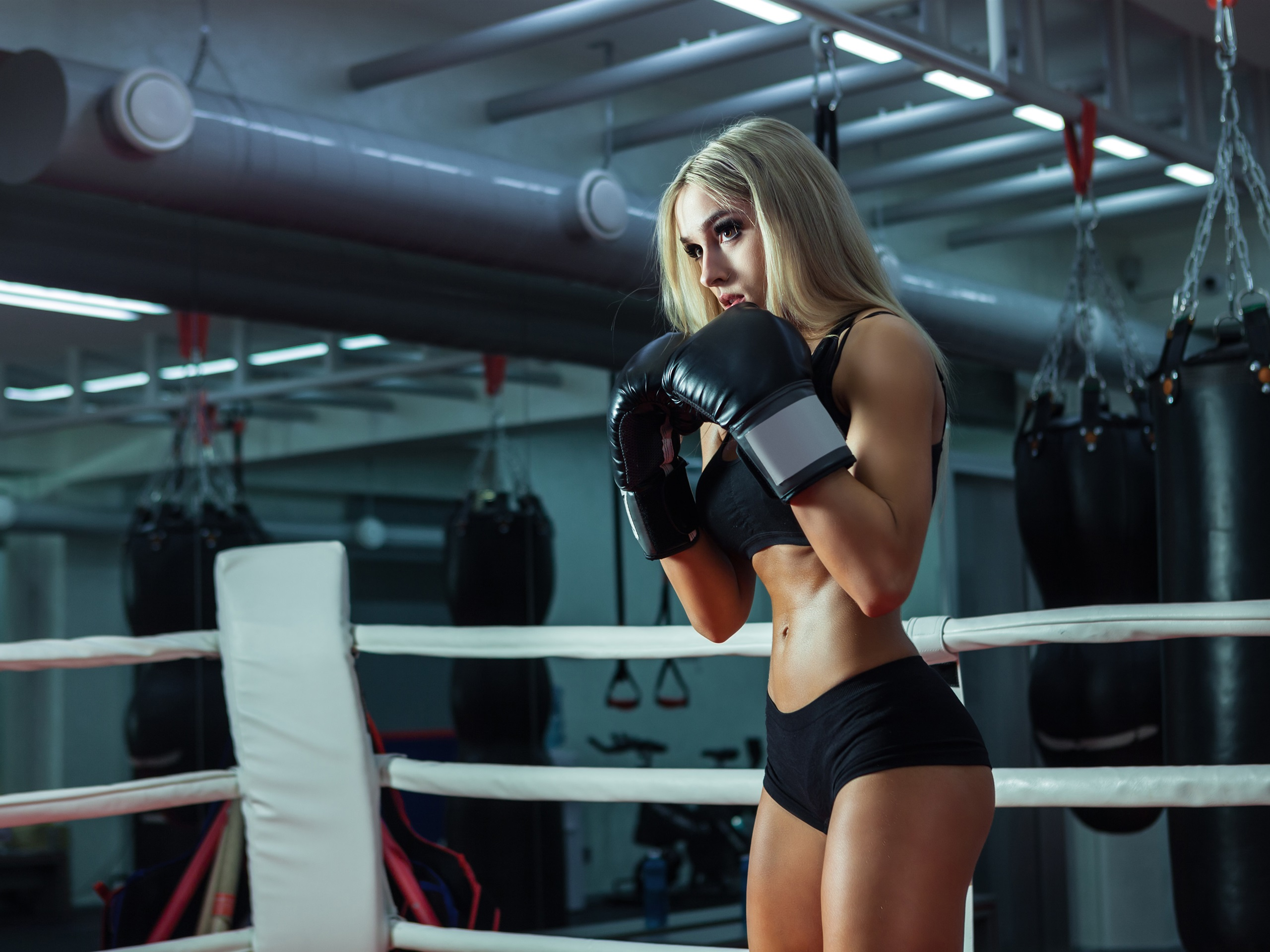 Official music video with girls boxing, xxx dana plato