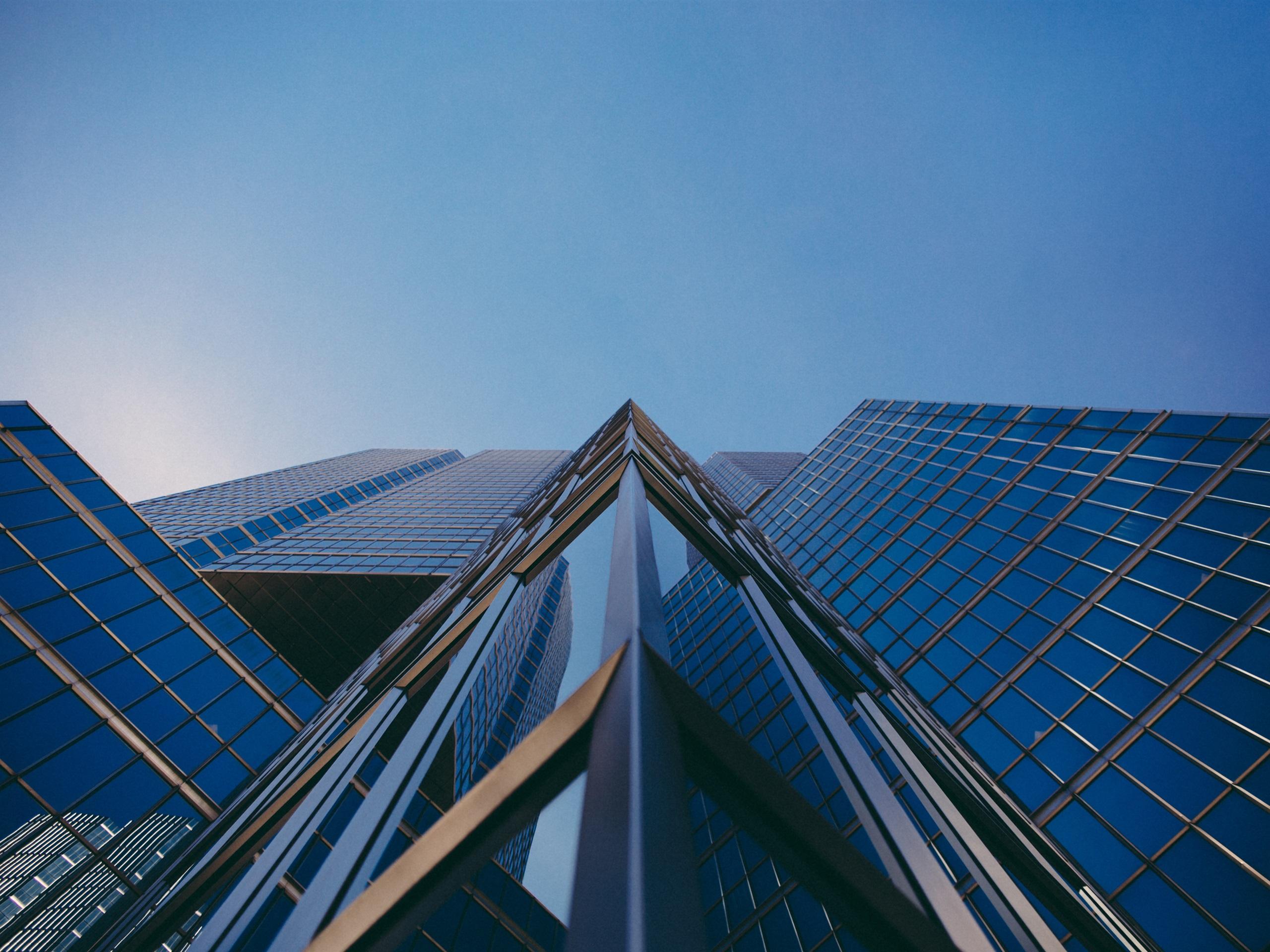 Обои Облака, здания, стекло, небоскребы. Города foto 10
