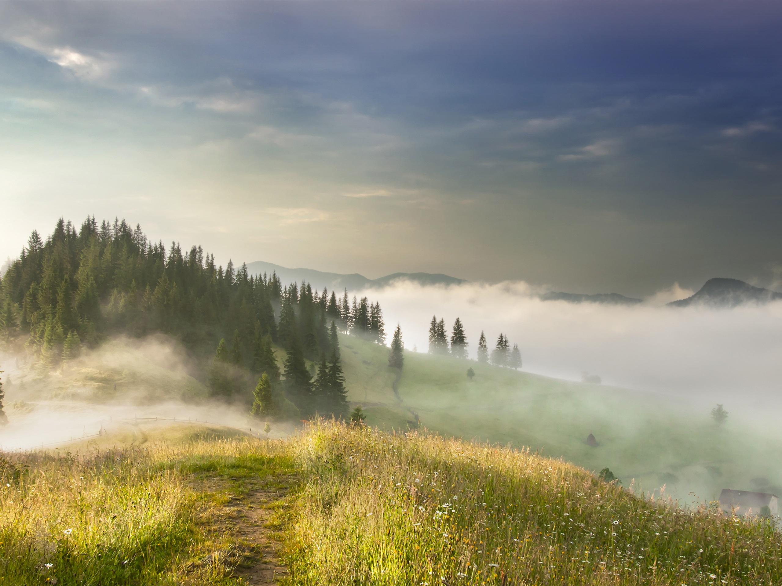 туман в горах1  № 394457 бесплатно