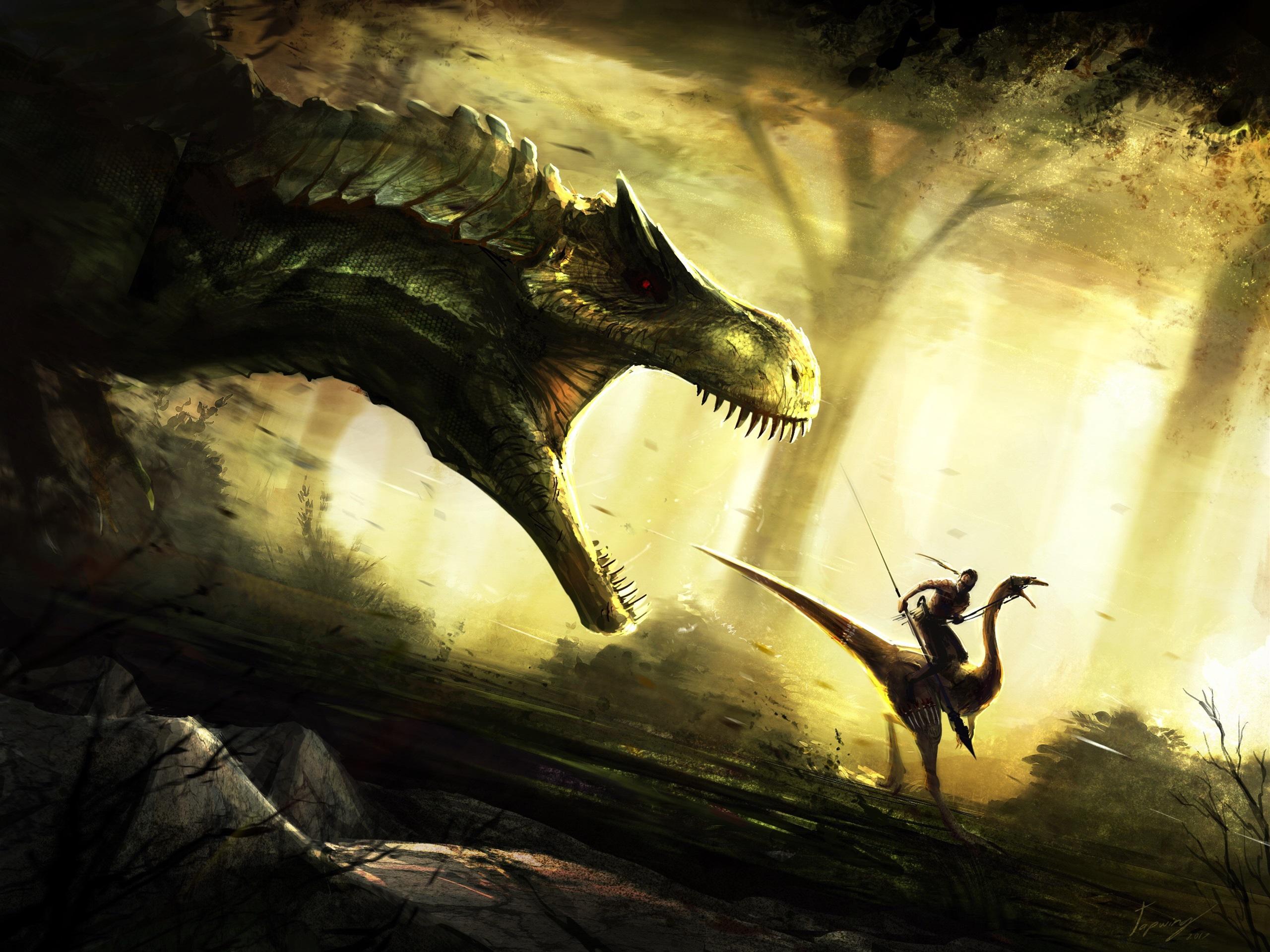Fondos De Pantalla Imagen De Arte Dinosaurio Ataque